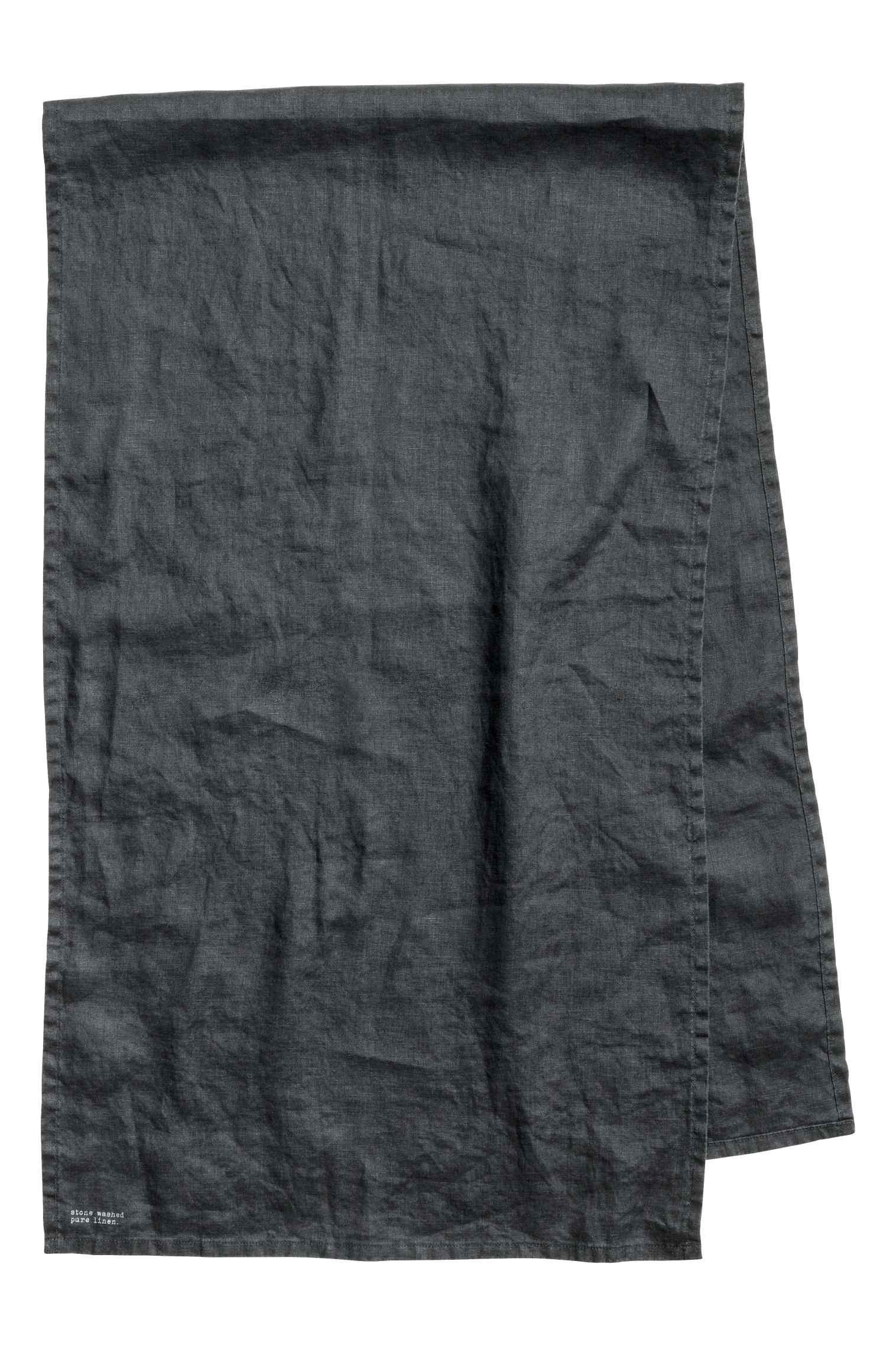 Washed linen runner, $15