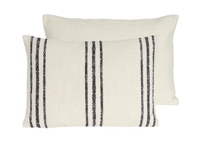 8. Ticking Stripe Pillow, $88
