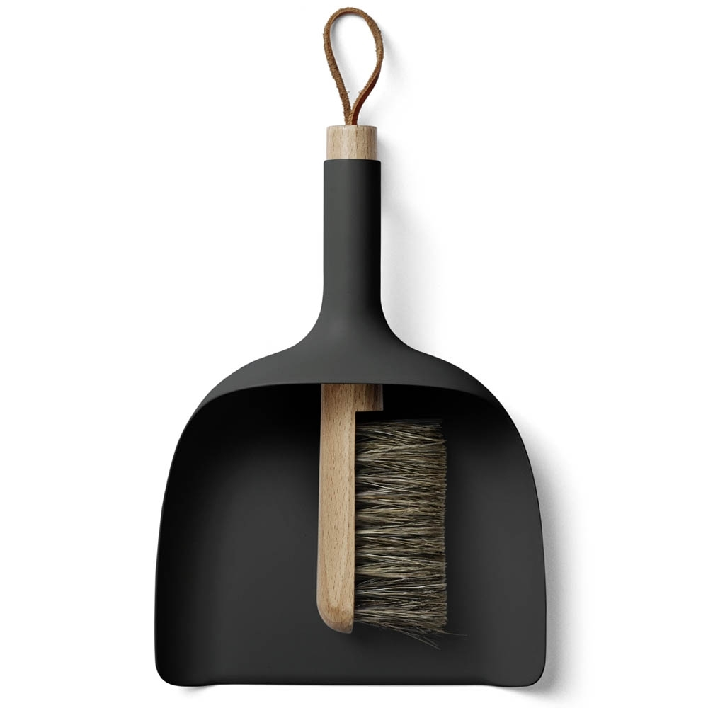 Handy for around the kitchen or crafting table to sweep up all the bits. You know the bits. The ones you are always tempted to just flick to the floor. Don't do it. Get this.  Sweep Funnel  and brush, black, $90.