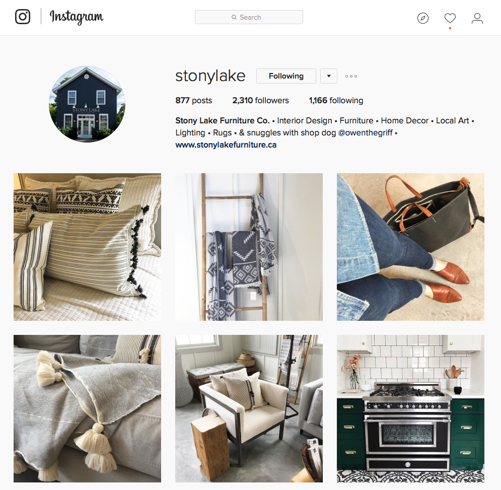 Stony Lake Furniture Instagram