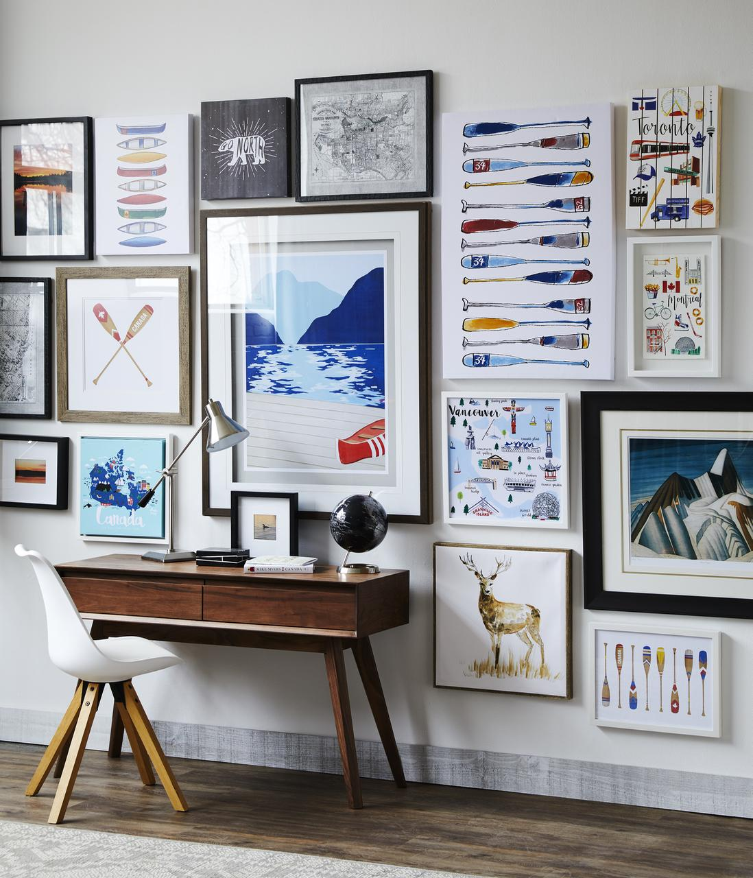 Et voila the salon wall of Canadiana! Actually, I think this is my fave. I have a salon wall addiction.