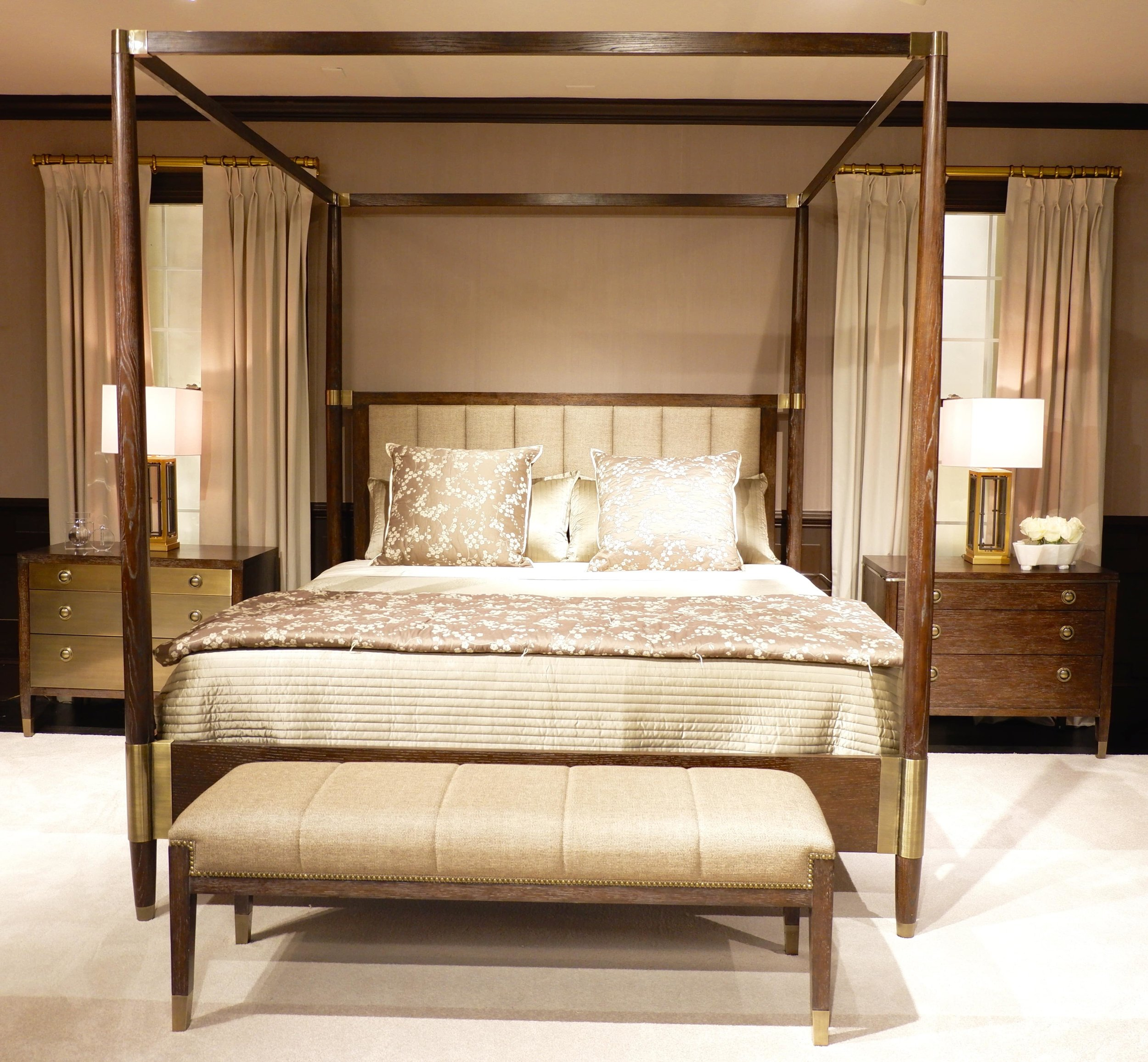 This version at Bernhardt is all about handsome and stately but with clean lines for today.