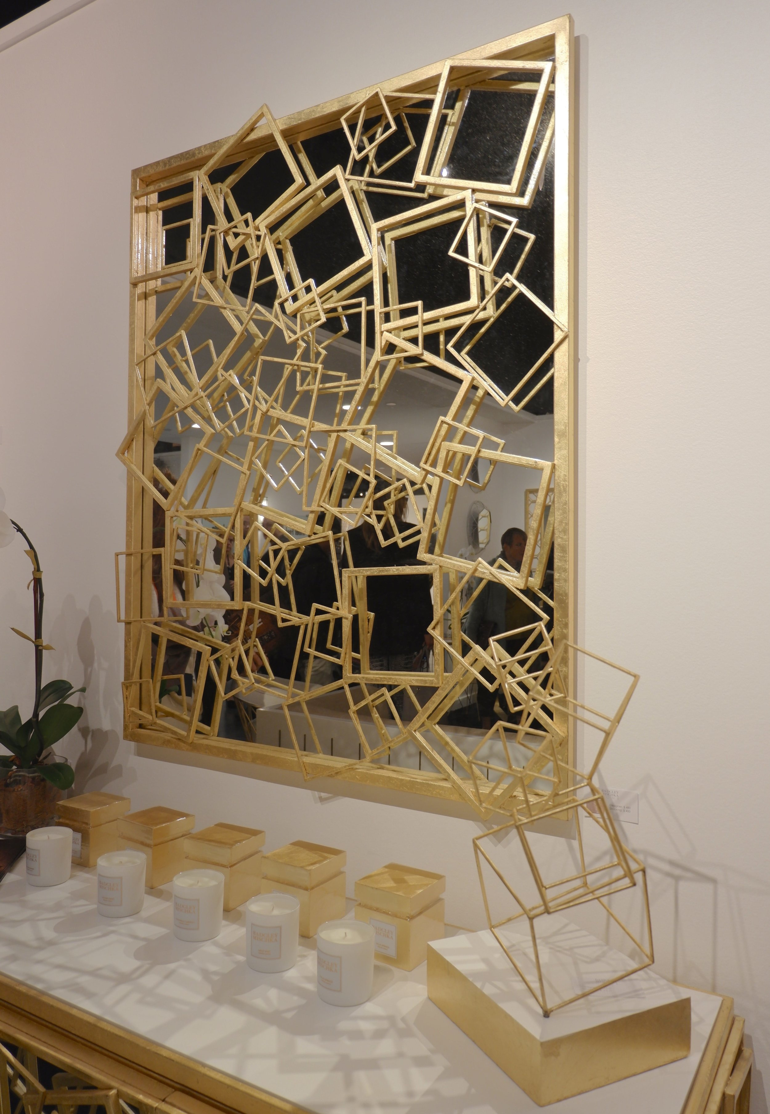 Gold leafed everything at Badgely Mischka Home.
