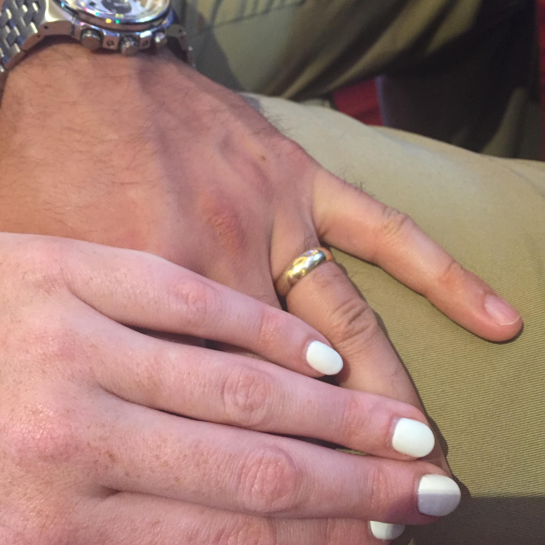 I forgot my ring! We look so scandalous!