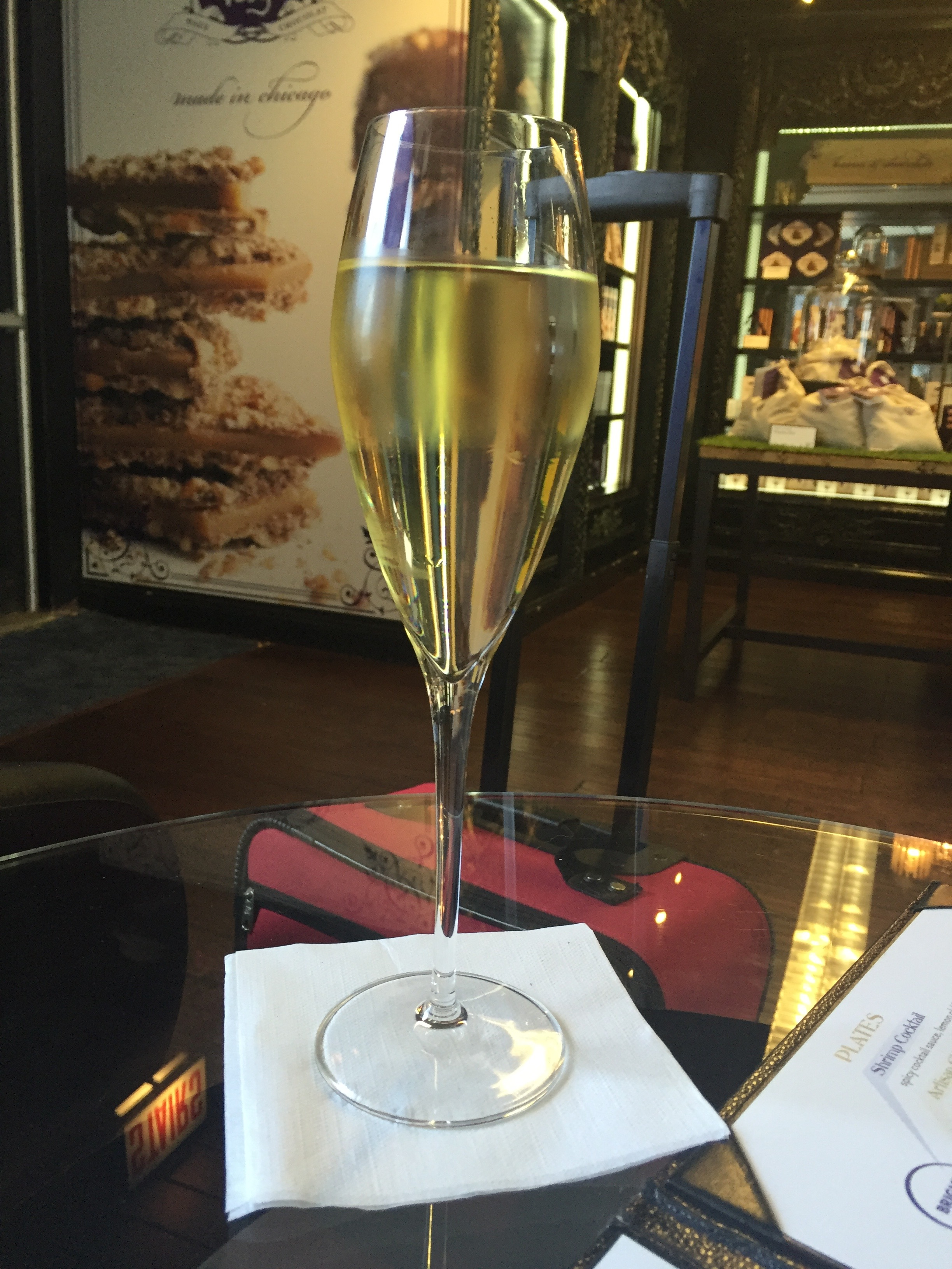 Airport champagne!