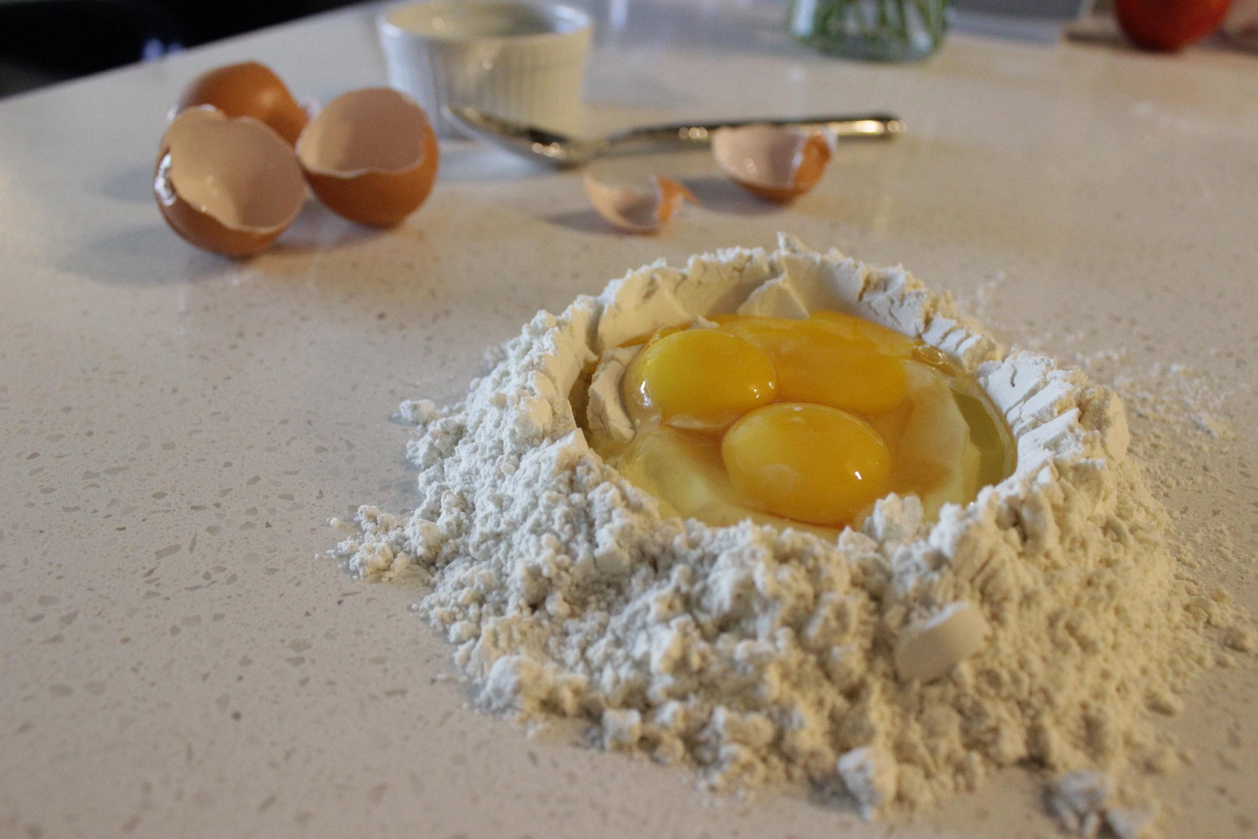 Eggs in their basin!