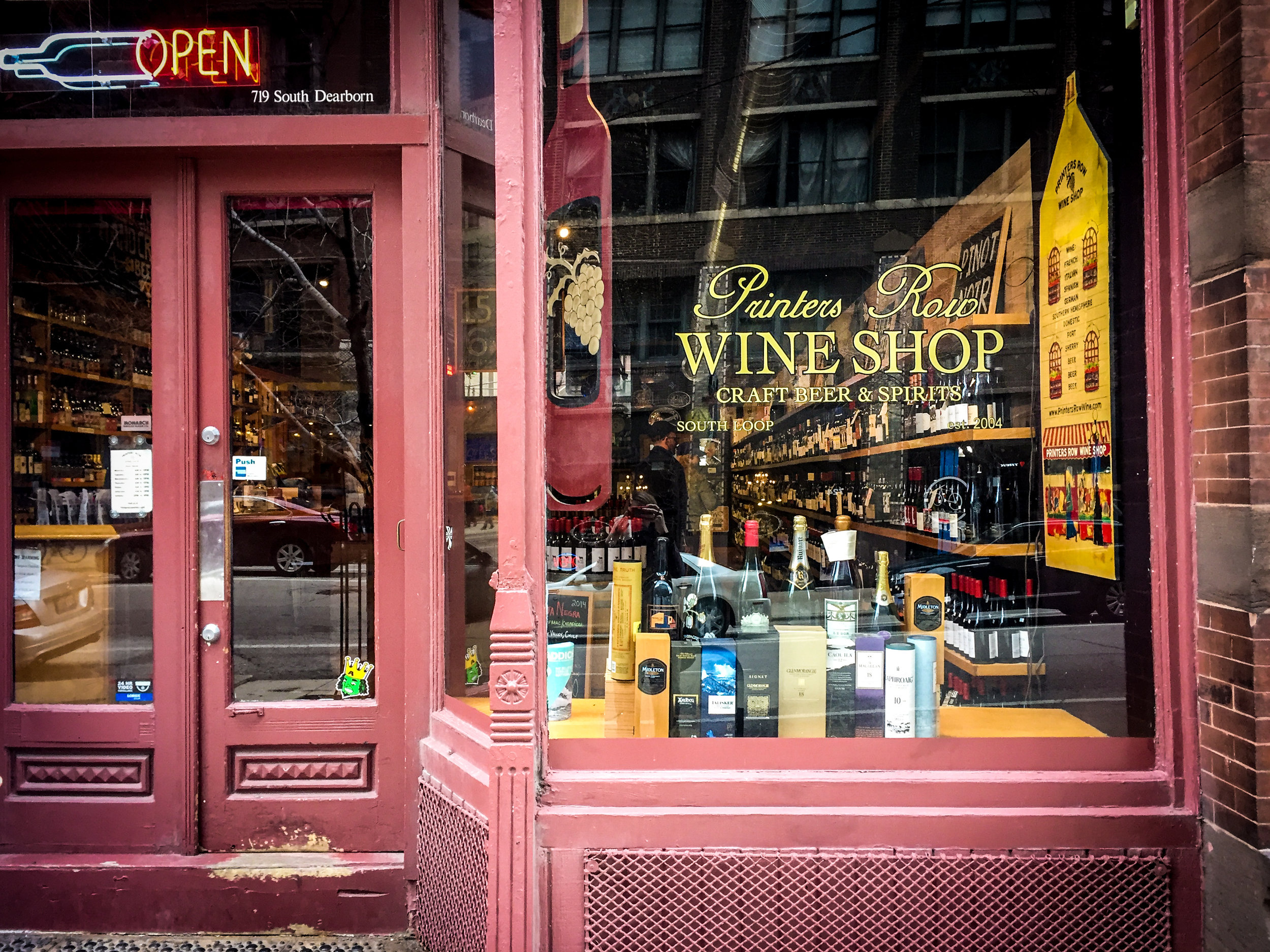 Printers Row Wine Shop