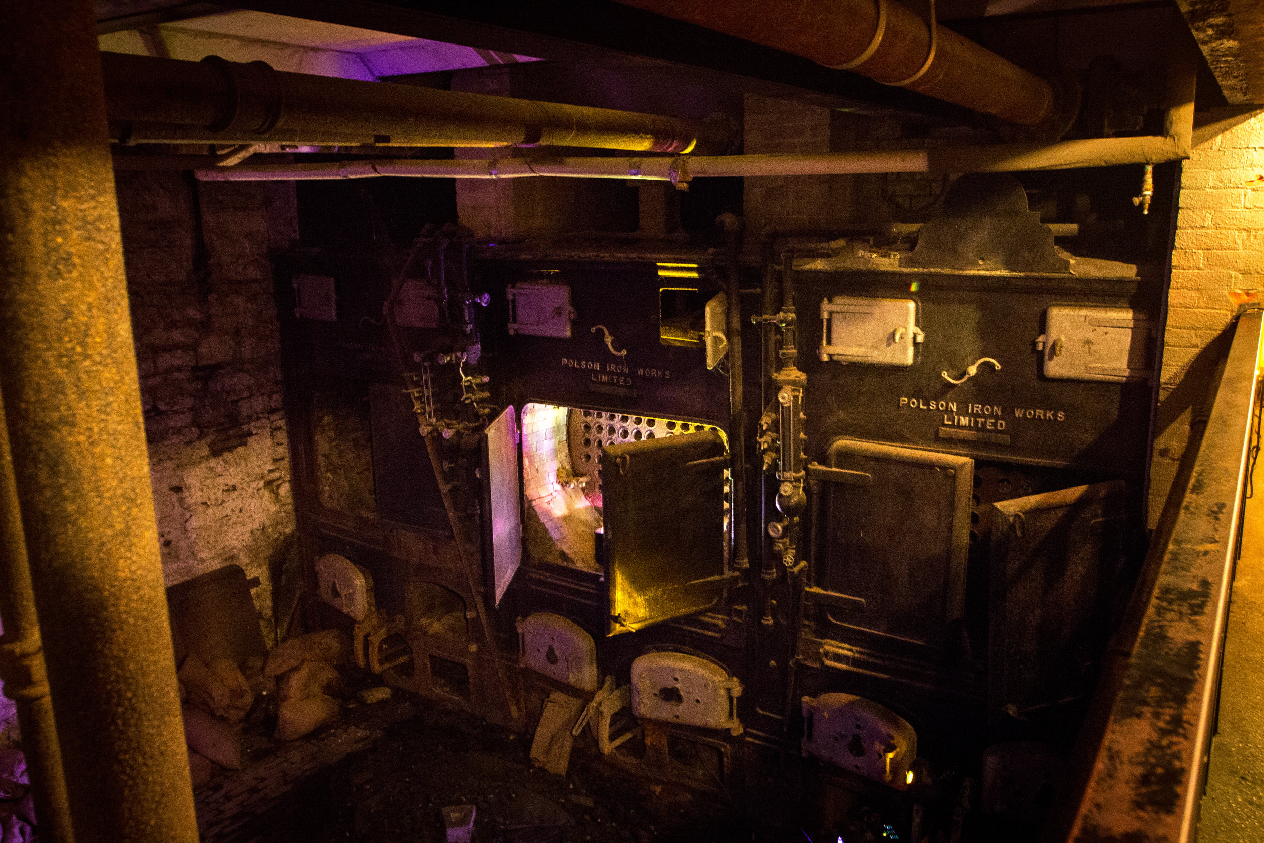 The boiler room that was in the secret tunnel