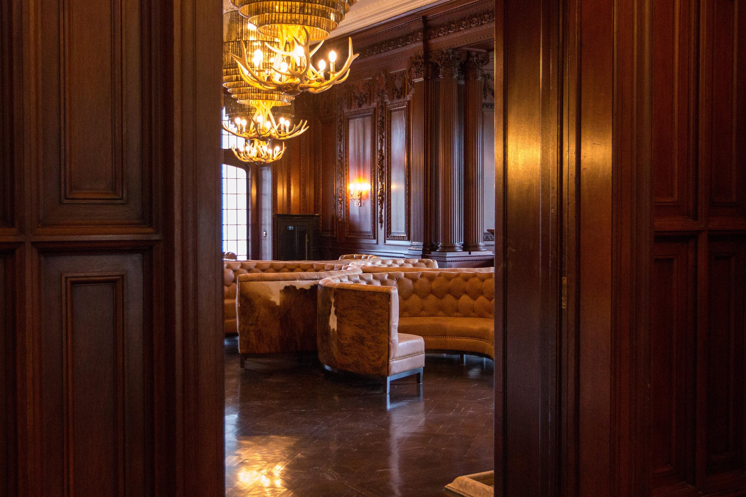 The swanky room