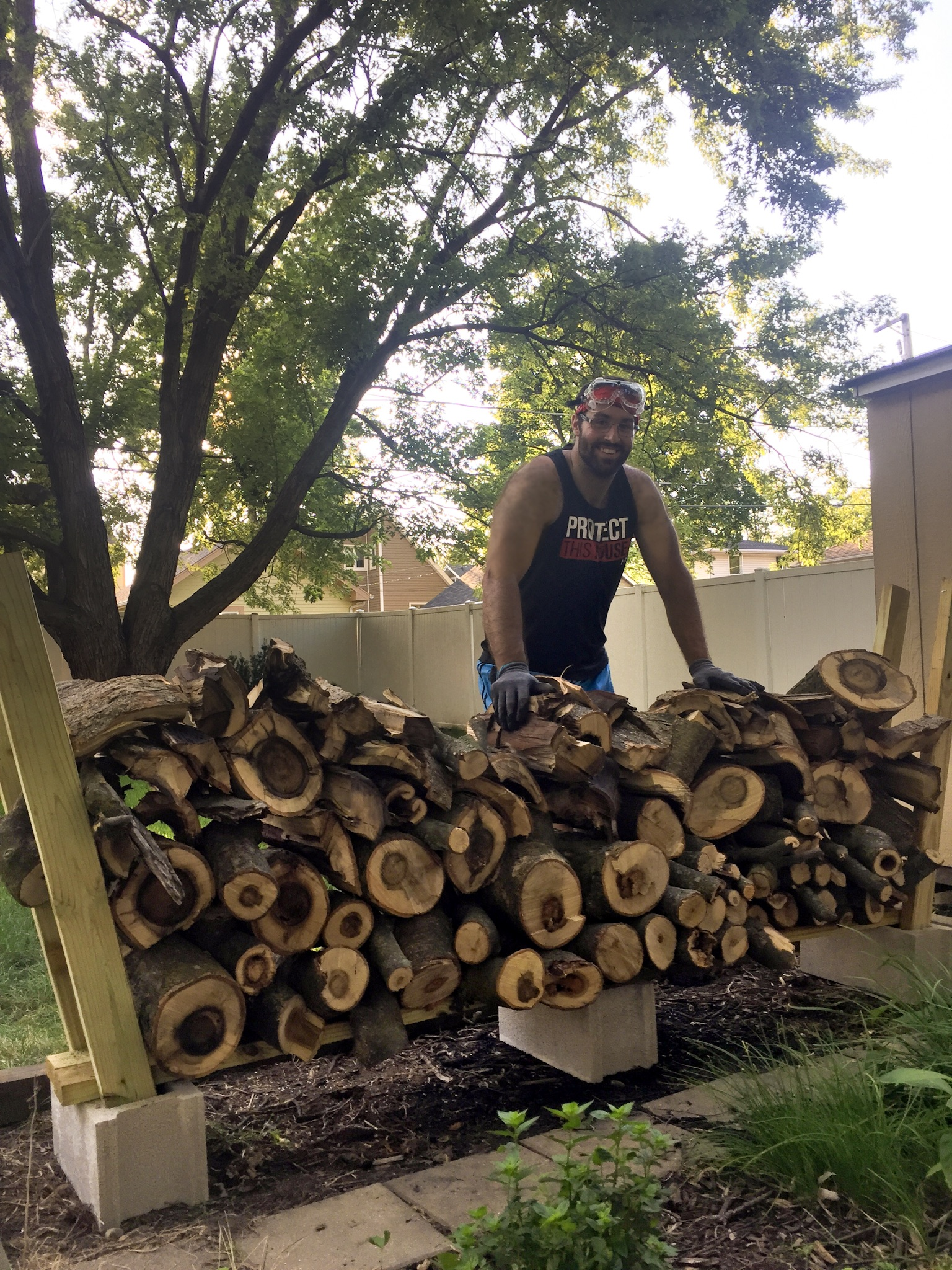 Set for firewood