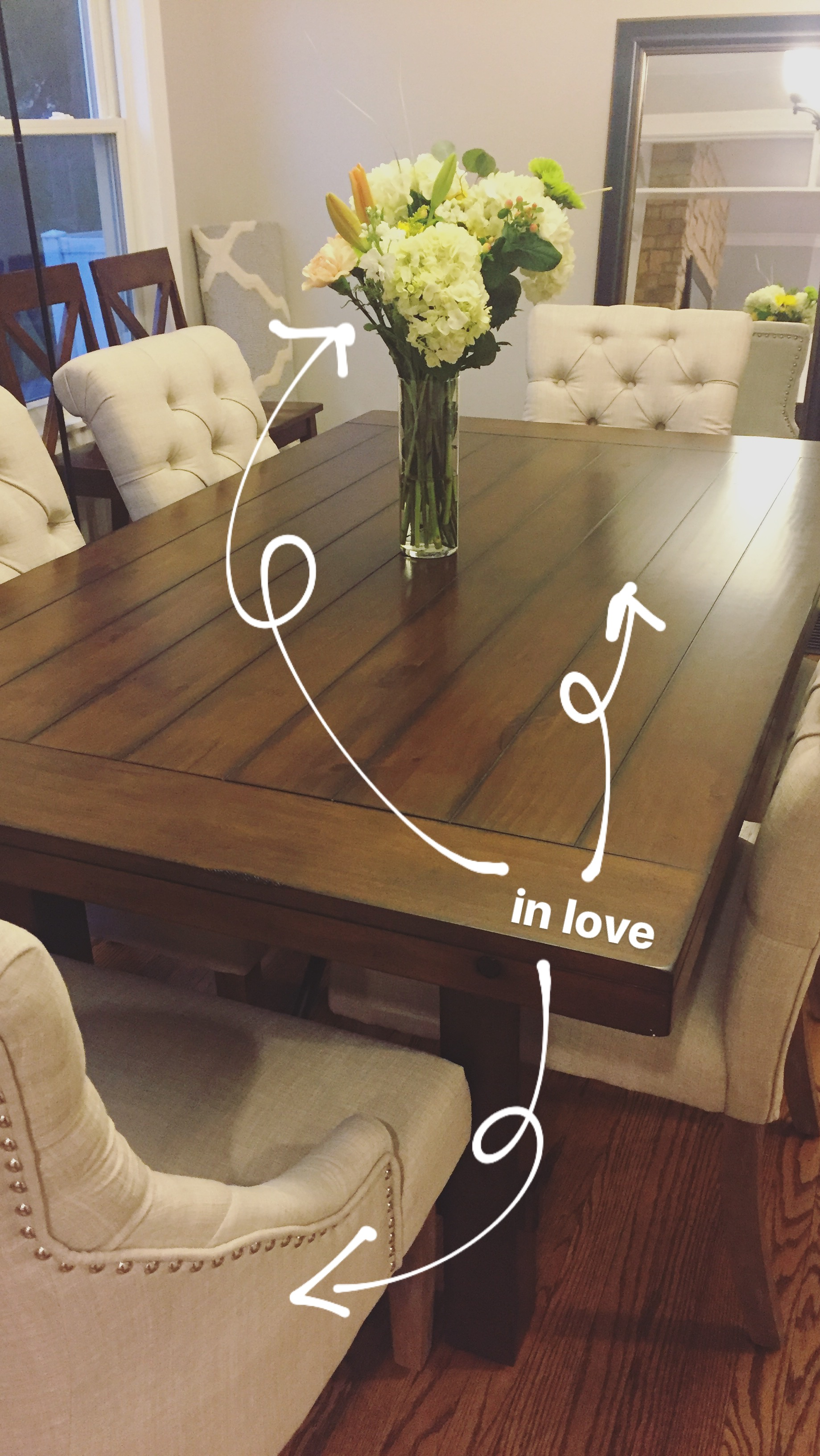 The Dining Table and Chairs!