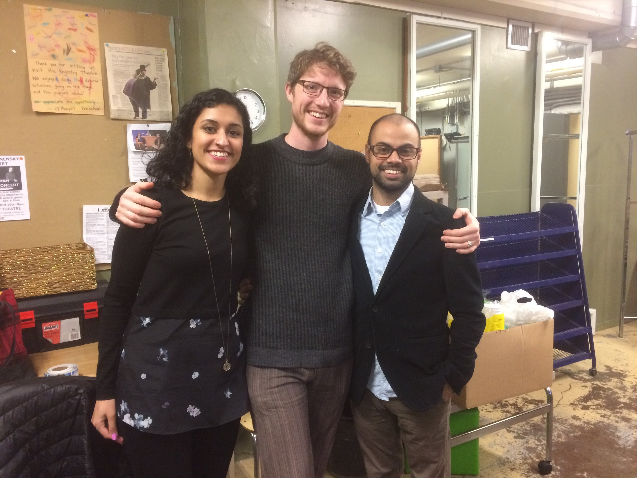 The Informal Upright Crew - from left to right: Sukhpreet Sangha, Ciarán Myers, and Shawn DeSouza-Coelho