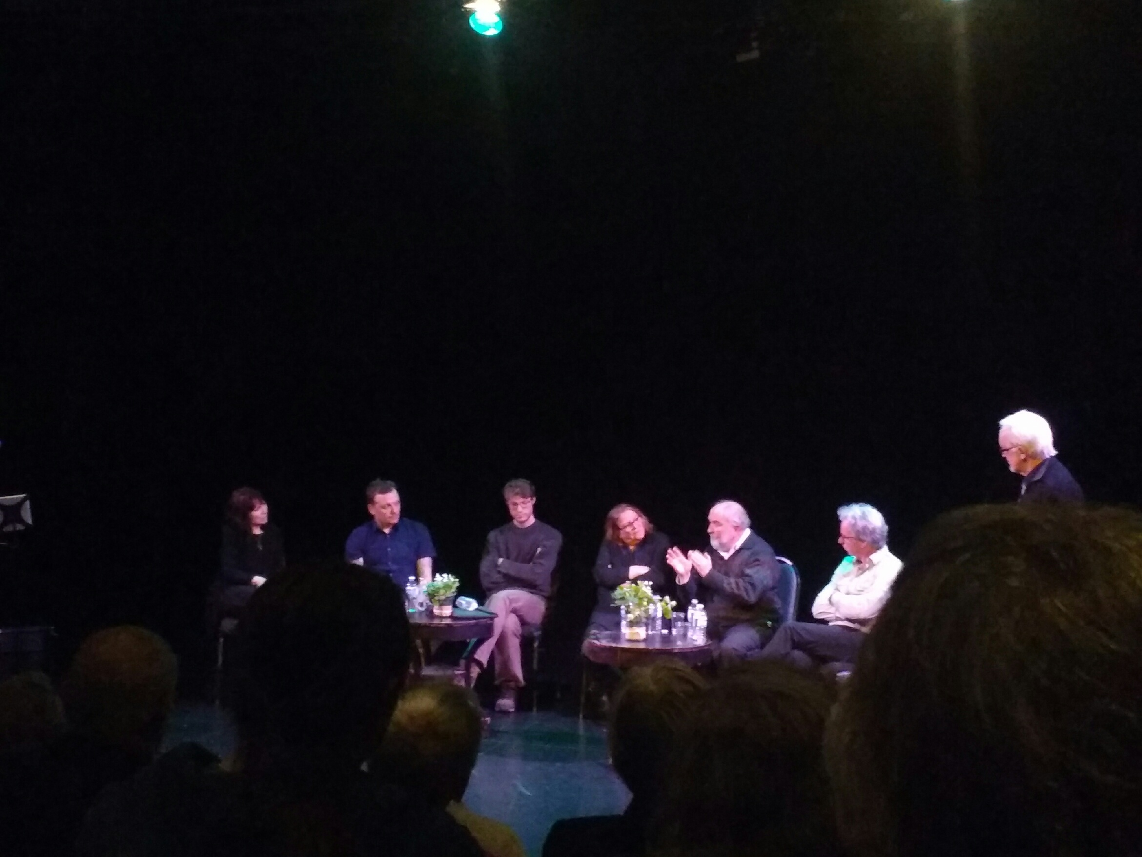 The Panel - from left to right: Karen MacLeod, Leigh Cooney, Ciarán Myers, Paddy Gillard-Bentley, Michael Higgins, Michael Kelly Cavan, and Host, Dr. Kieran Bonner.