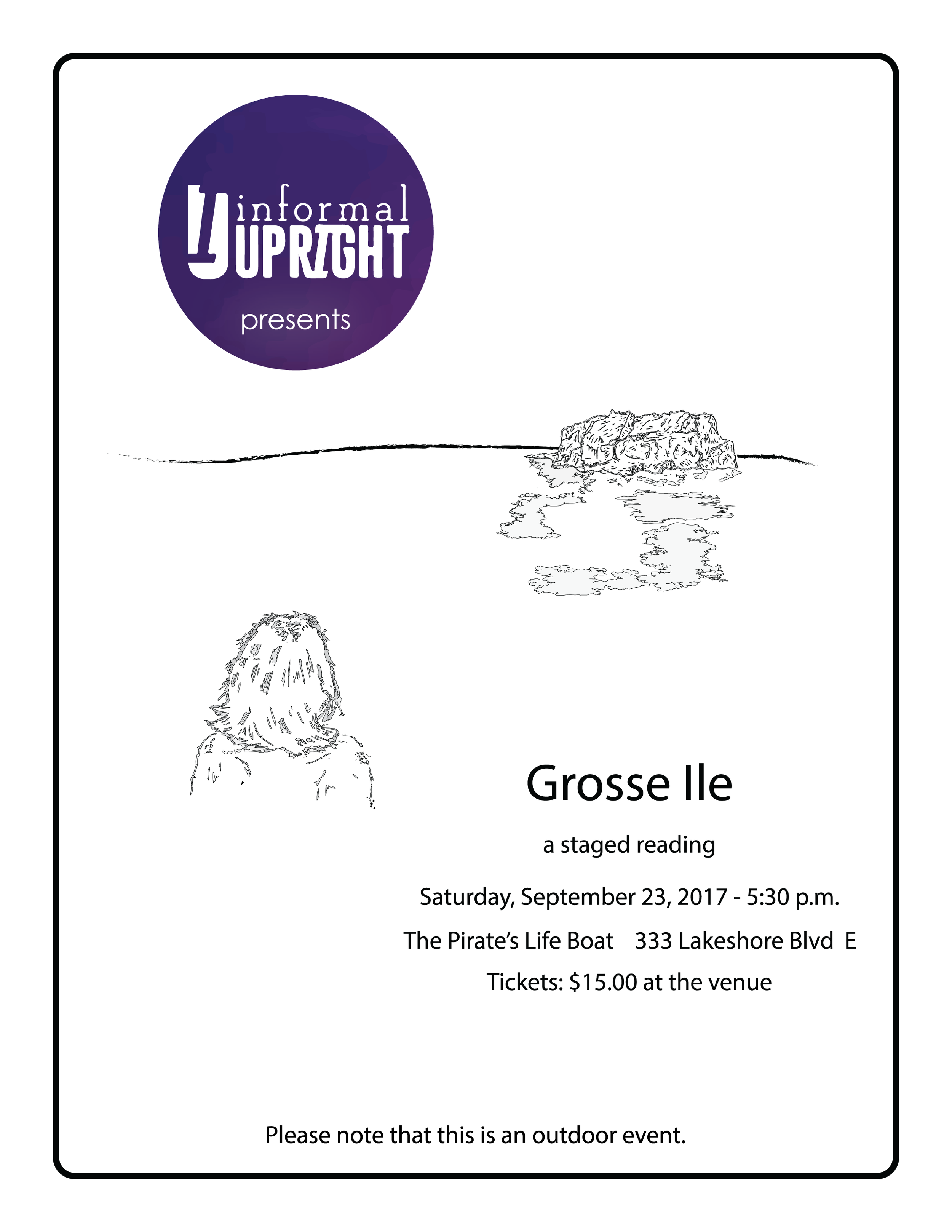 Grosse Ile Staged Reading Poster