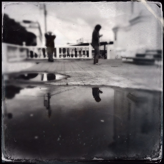 Blessed Salt Mirror   rainwater reflection in Santo Domingo Xenacoj, Guatemala   October 2014