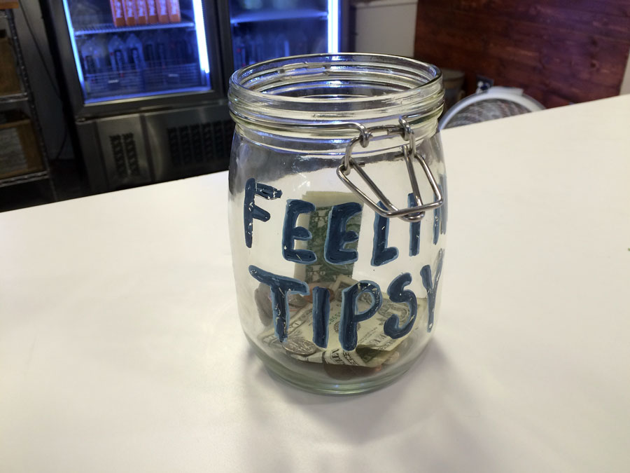 Yes. Maybe later? Cute tip jar at  Rawsome Juicery  .