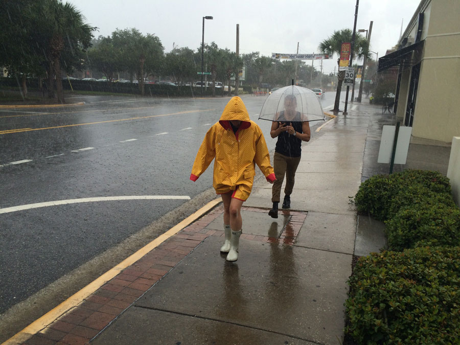 Gimme Shelter.  The ceremonious walk back to the awning of the College Park store.