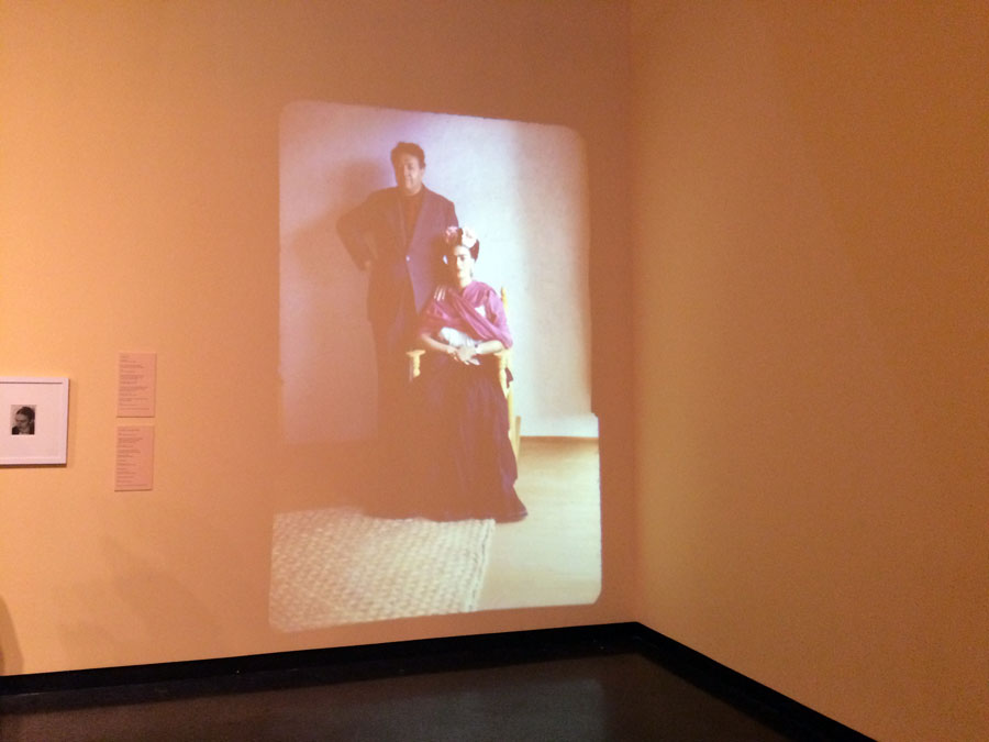 Famous pairing.  A projection of Diego Rivera and Frida Kahlo at one of the most intimate and heartbreaking shows I have even been to.