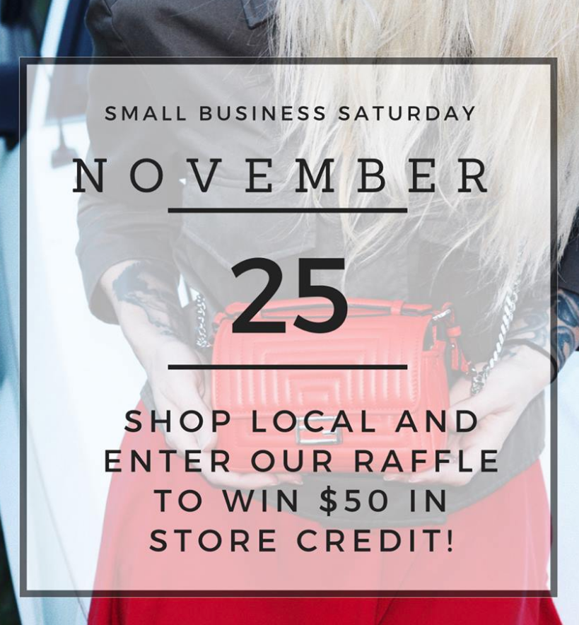 Support the little guys today. The true meaning behind SHOP SMALL, BUY LOCAL. And while you're here, enter to win.
