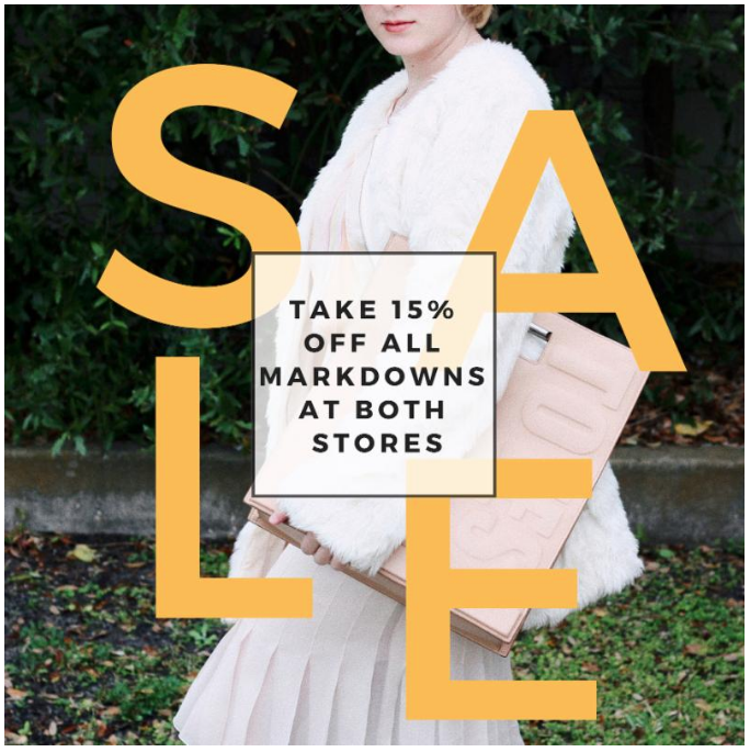 Can't you believe that it's February? Let's kick off the second month of the year with a sale :)