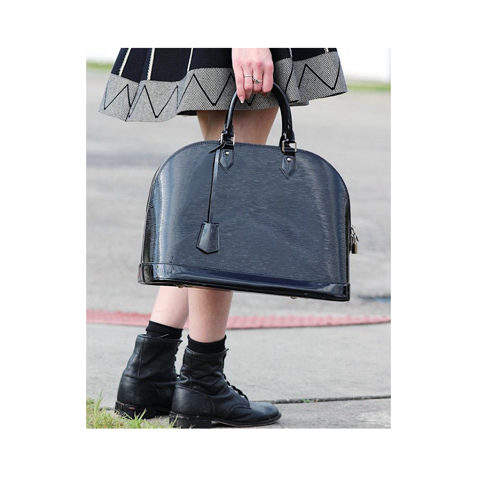 Alma GM,  Louis Vuitton . Skirt and accessories,  vintage .