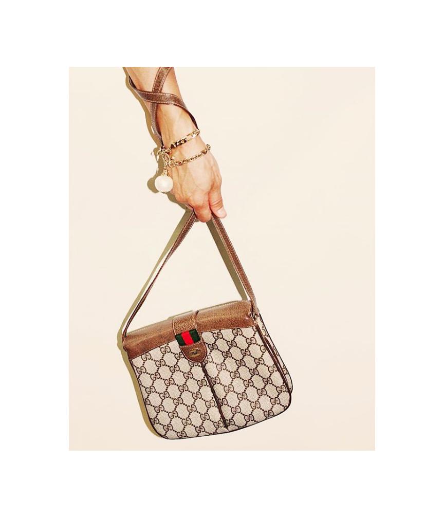 Monogram with web crossbody,  vintage Gucci .