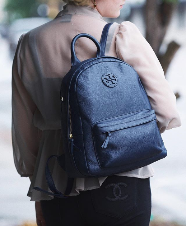 Tory Burch  Zip Around backpack.