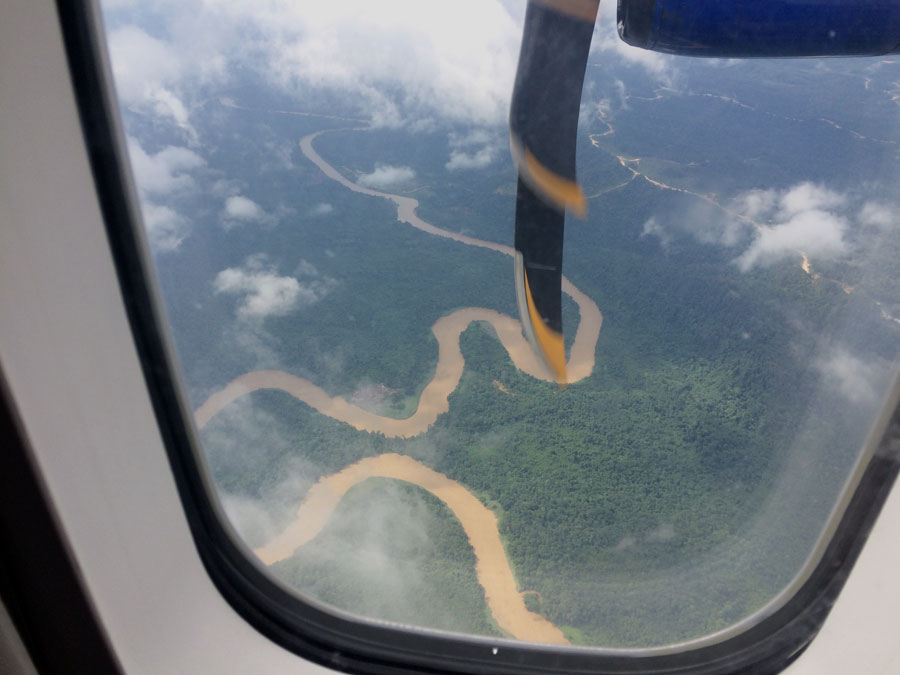 Connectivity and the Natural Thing.  View of the terrain below on the flight from Miri to Sarawak, Borneo.