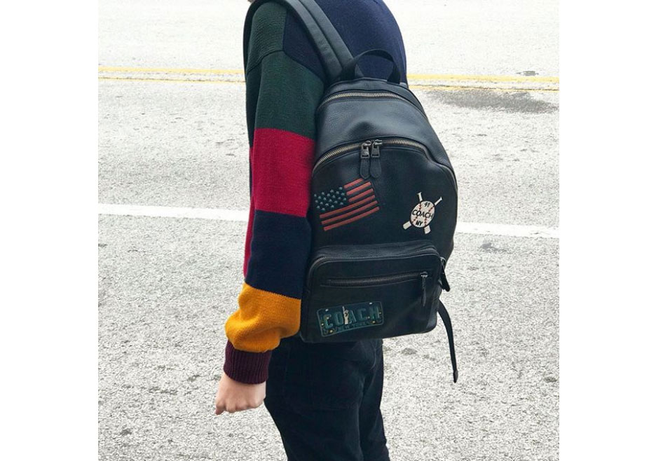 Black West backpack with American Dreaming patches,  Coach .