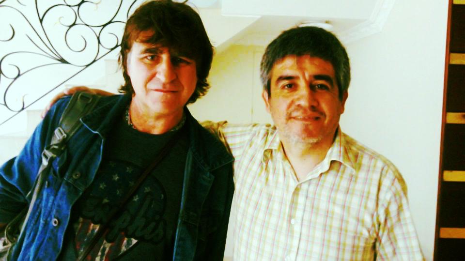Fernando avec Mark Burgess (The Chameleons)