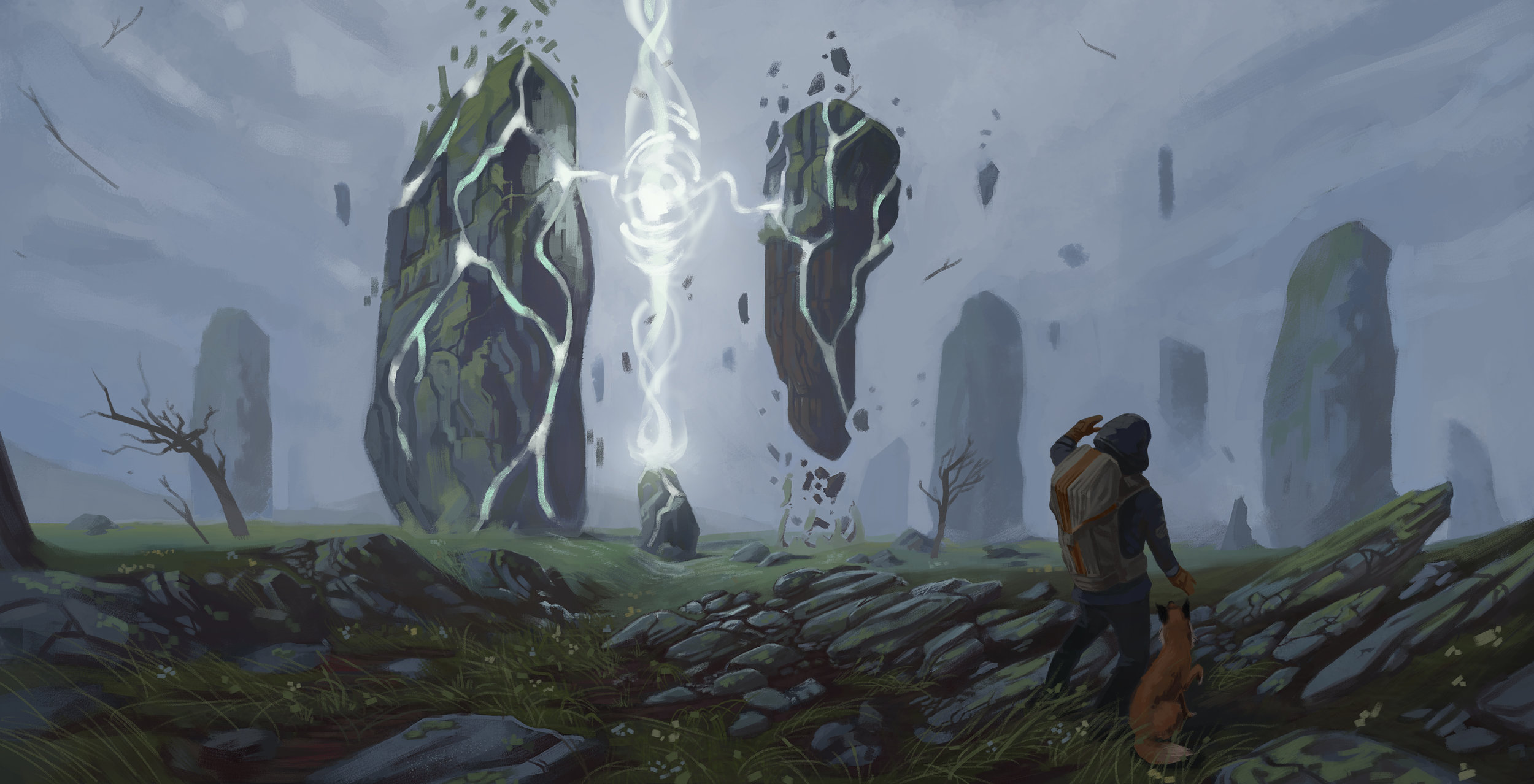 Megalithic site awakening.
