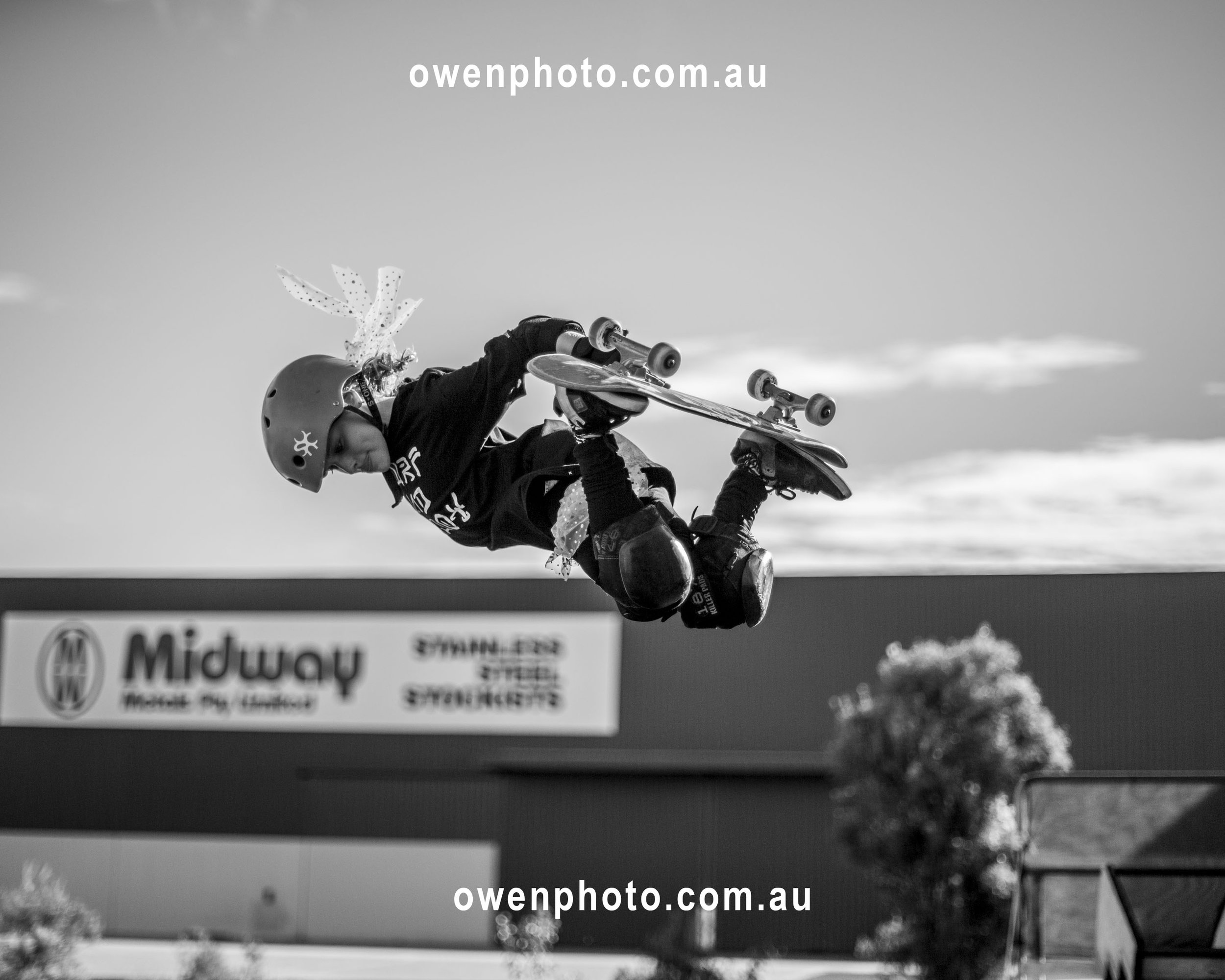 Sabre Norris skateboarding - ,Ellen Show, owenphoto.com.au
