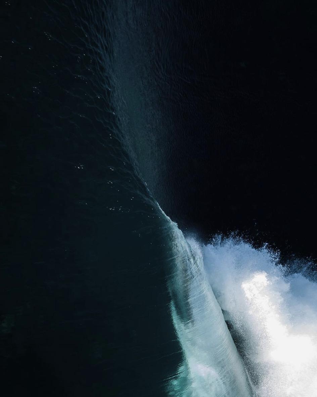 dark ocean wave art photography
