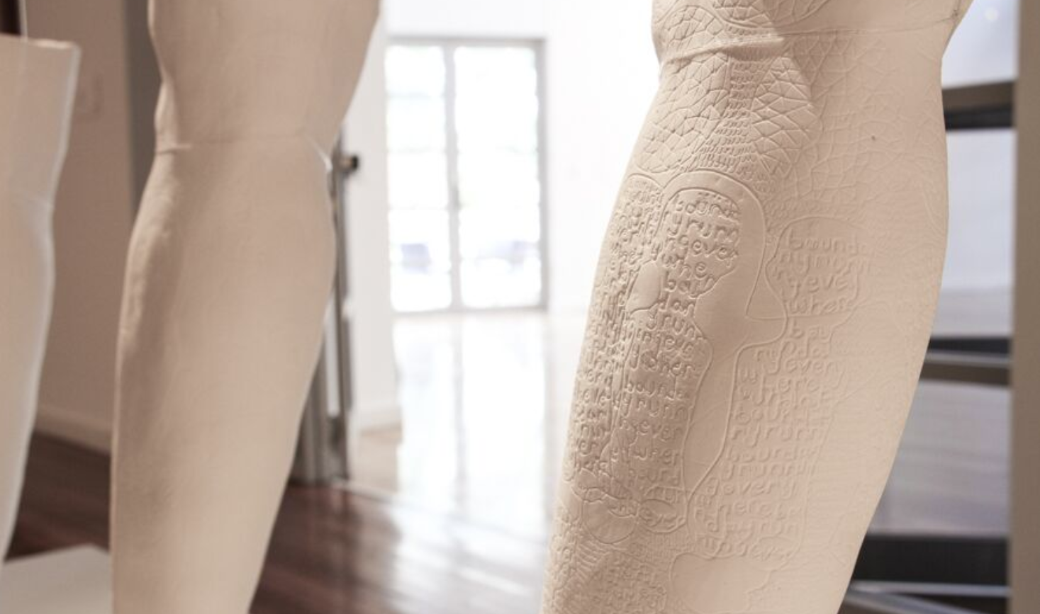 Mehwish Iqbal,  Forcefield of Complex Journeys,   2016, (detail) 600mmx 3000mm x200mm (10 parts)Installation in  Diaspora Making Machines , Blacktown Arts Centre, 2016,Image courtesy of the artist