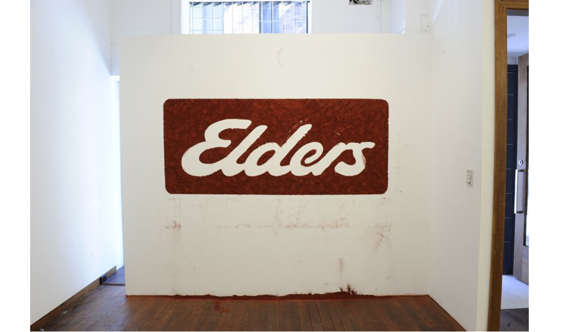 Jason Wing: Elders,  2011. pigment. Site specific installation. Image courtesy of the artist