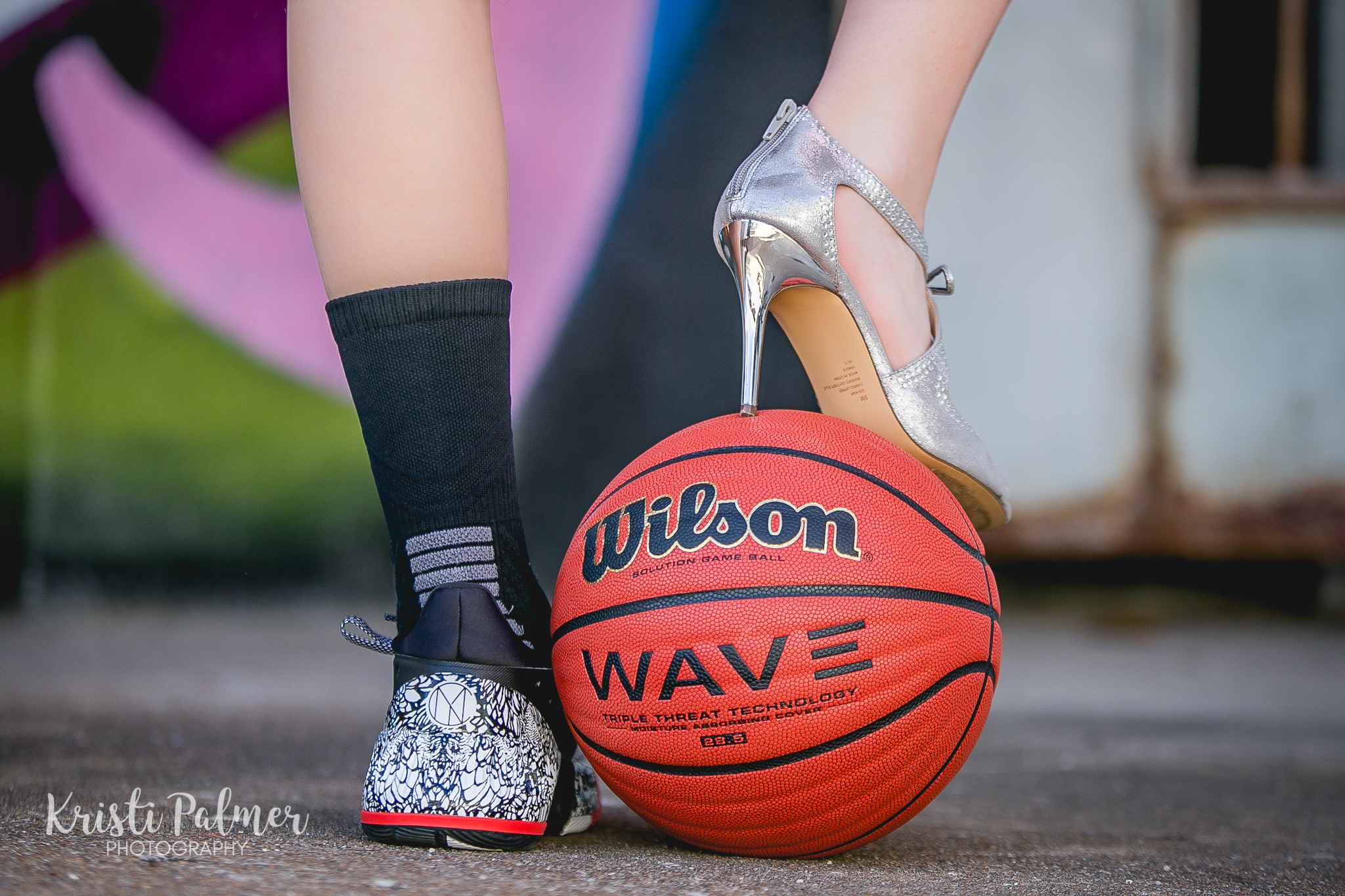 senior photo athletic girl basketball