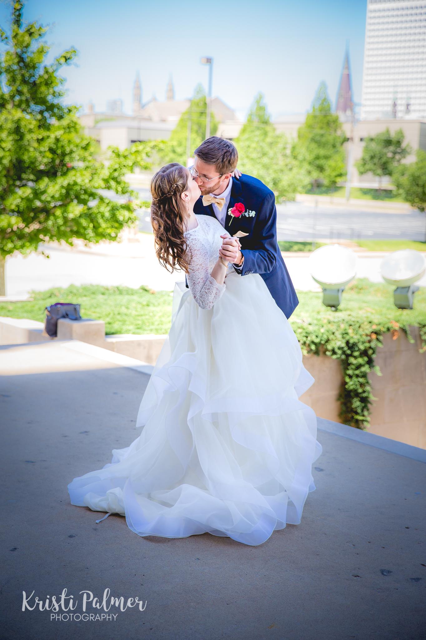downtown tulsa wedding photo
