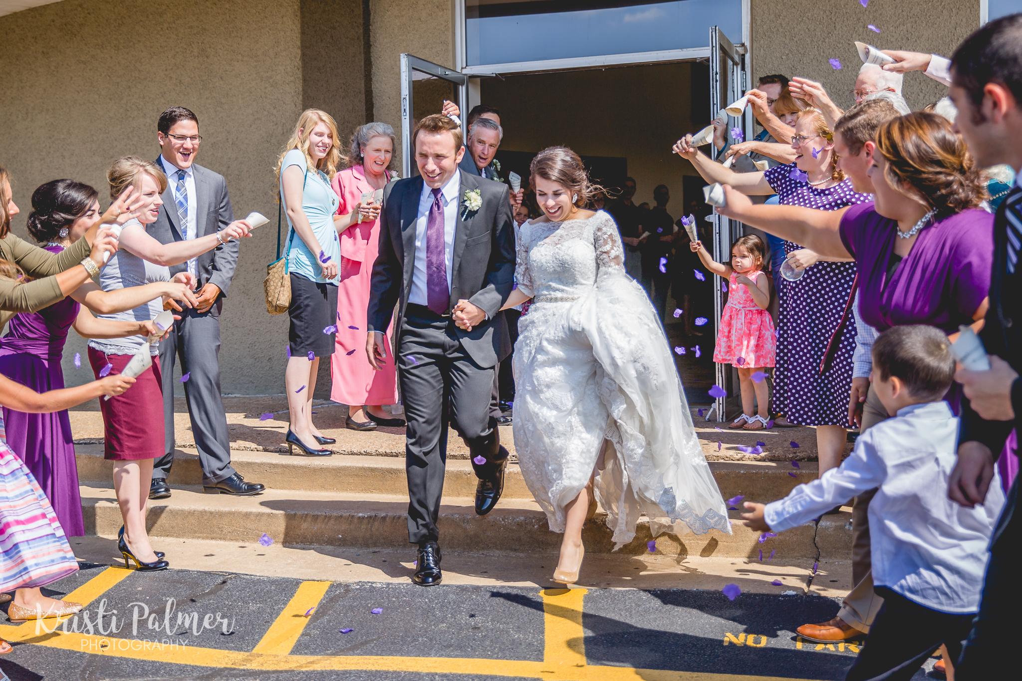 bride and groom send off tulsa, oklahoma
