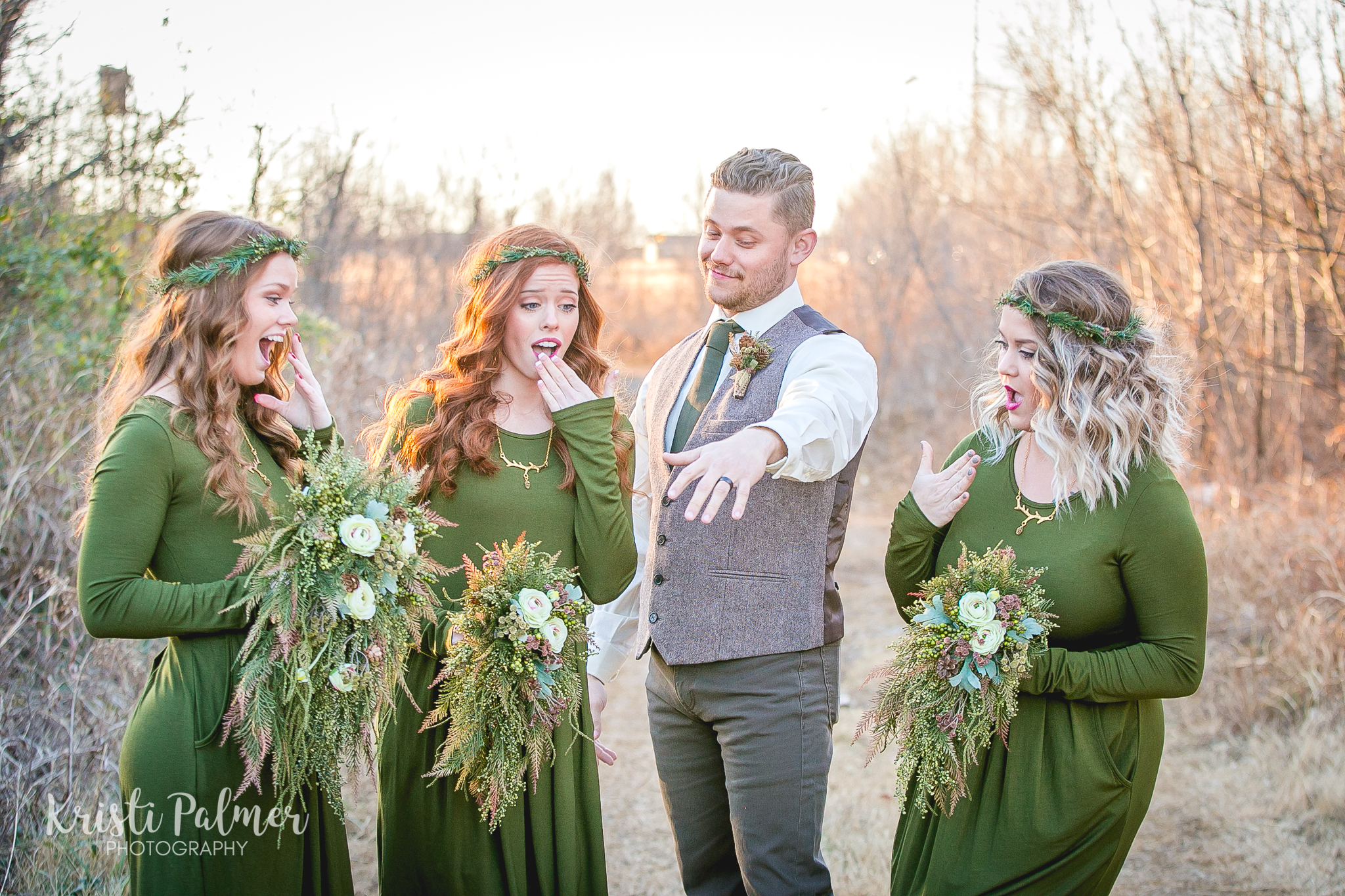 bridal party wedding portraits