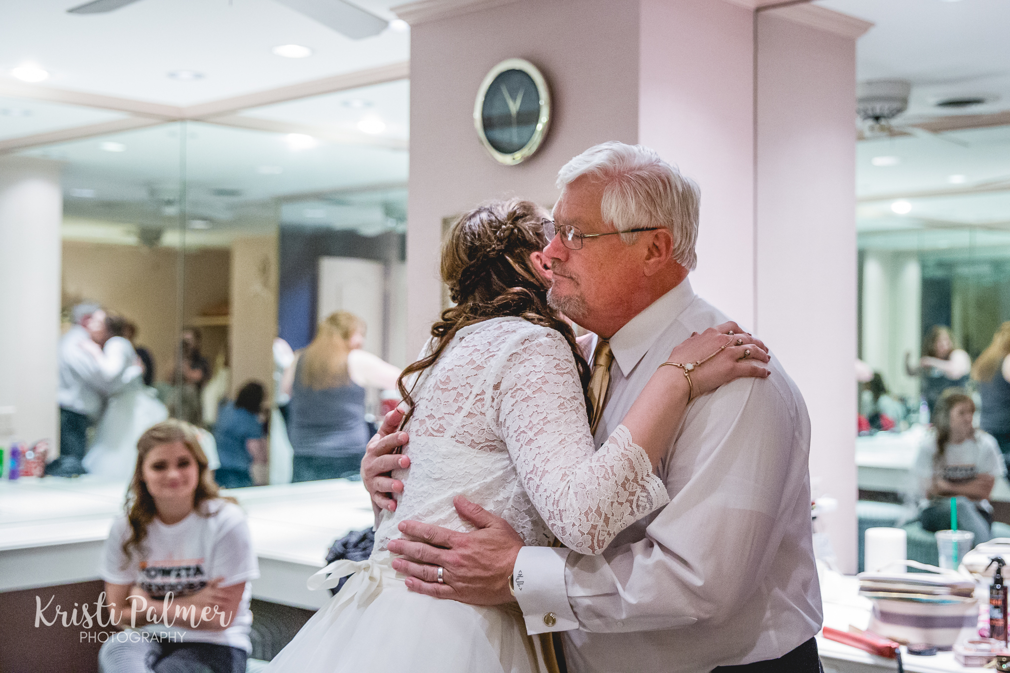 bride and her father before the wedding