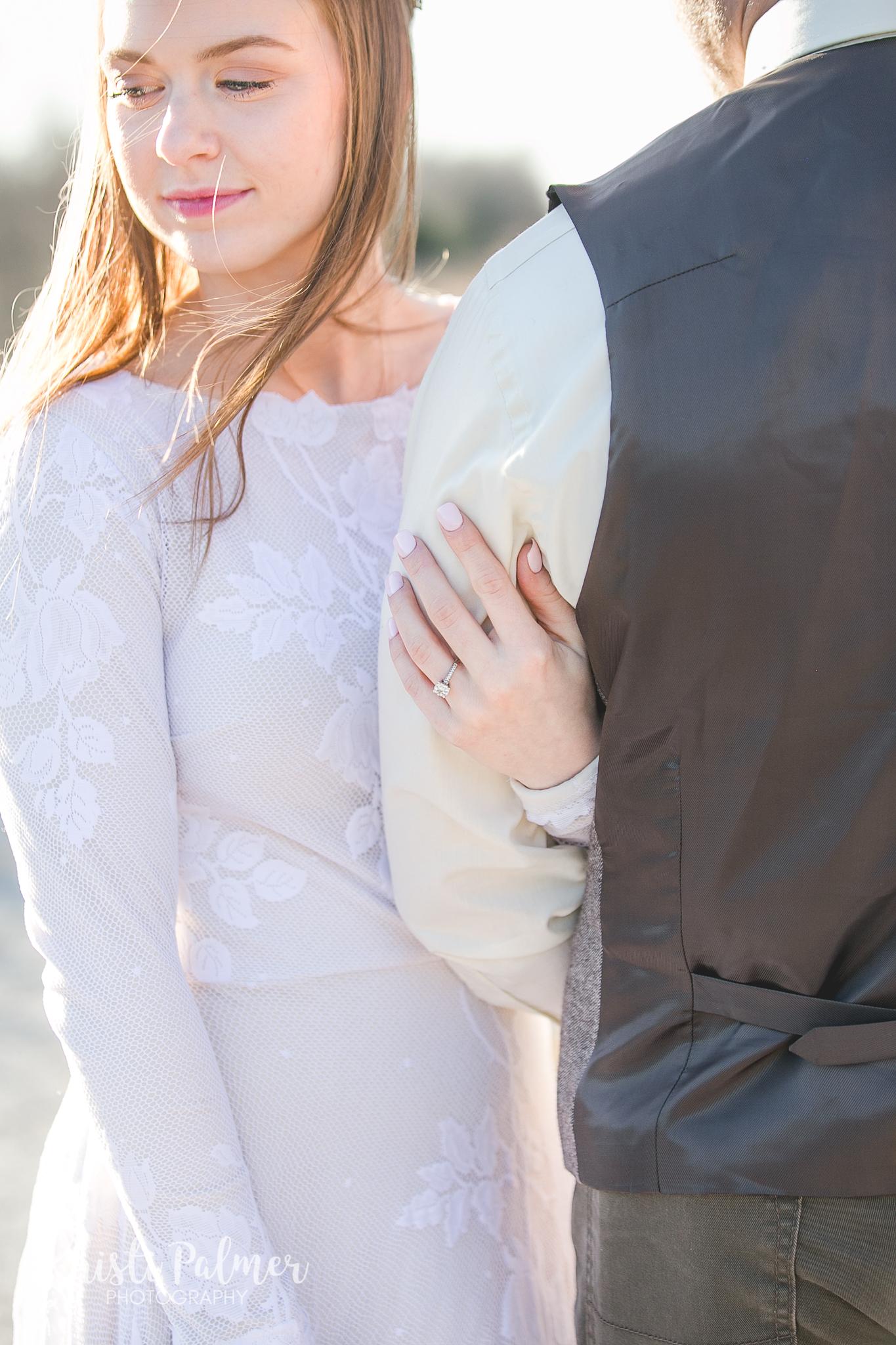tulsa bridal portraits close up