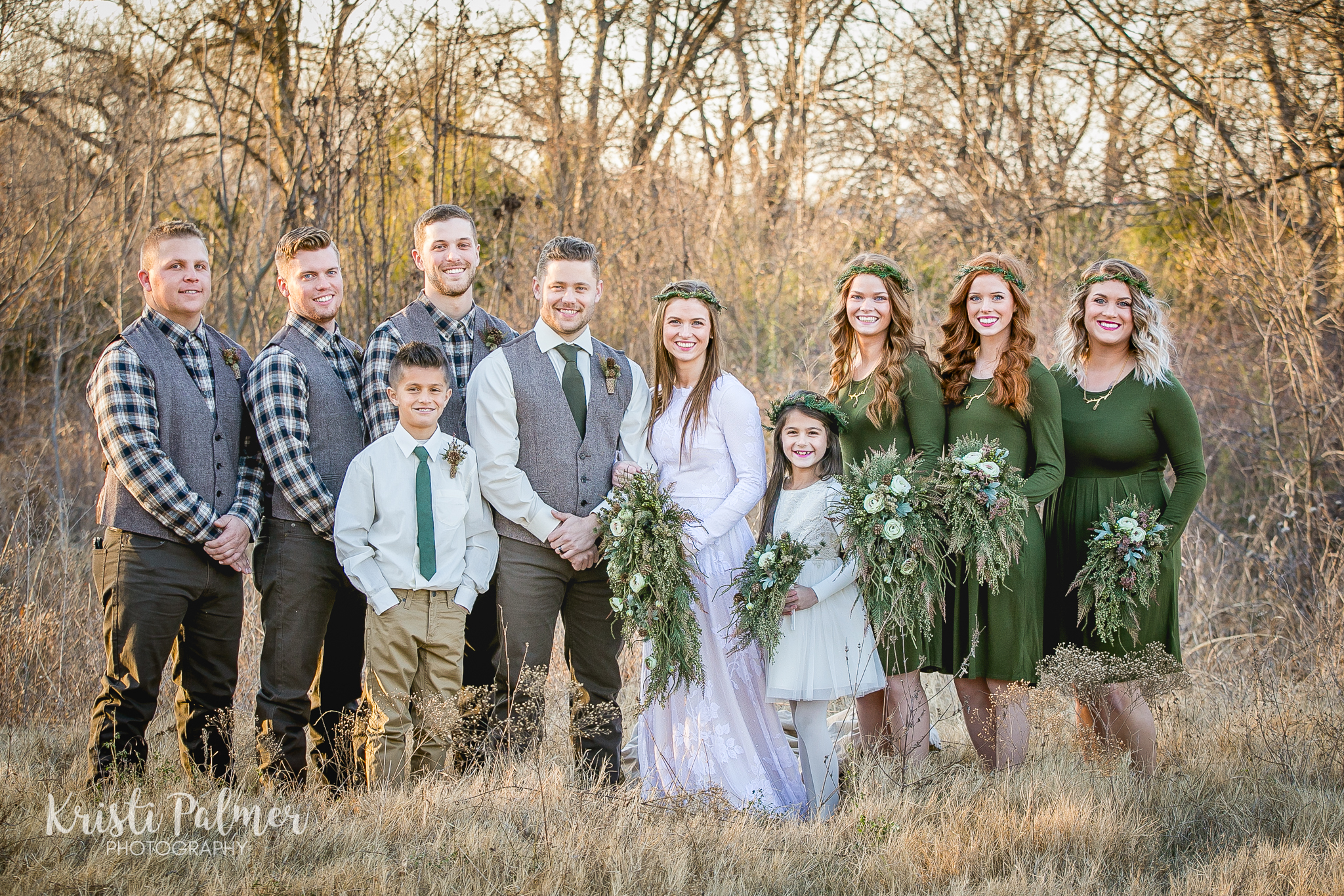tulsa bridal party bride groom bridesmaids groomsmen flower girl ring bearer