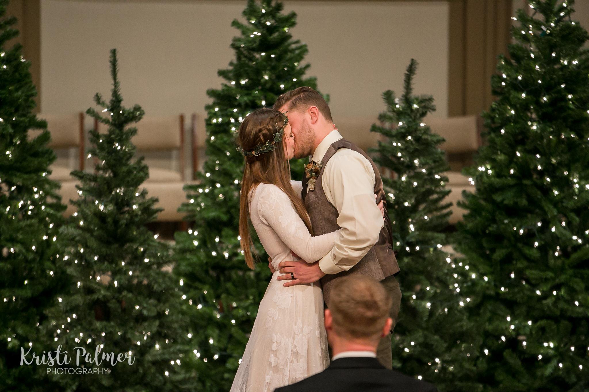 wedding kiss wedding ceremony