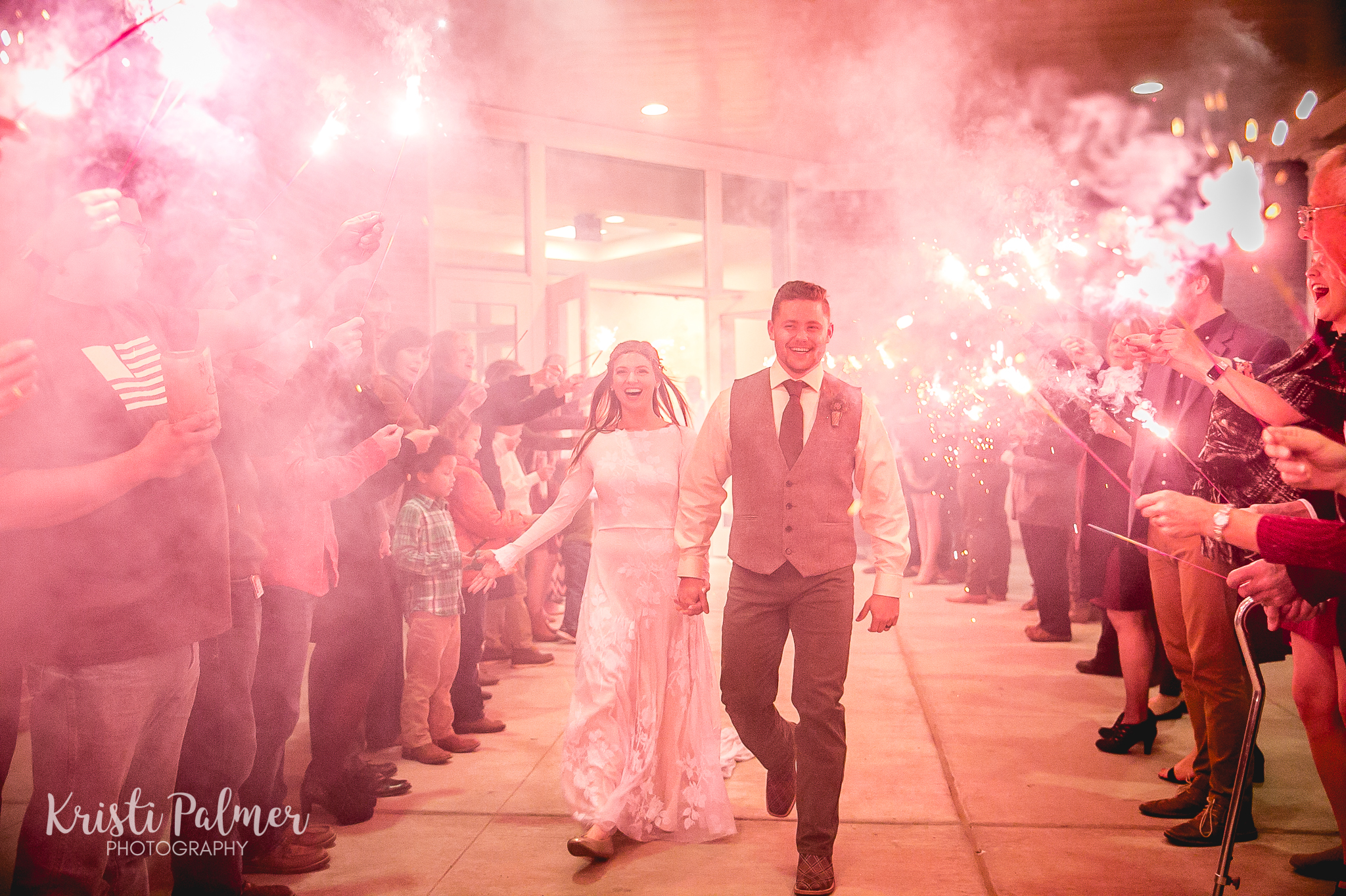 bride and groom send off leaving the reception