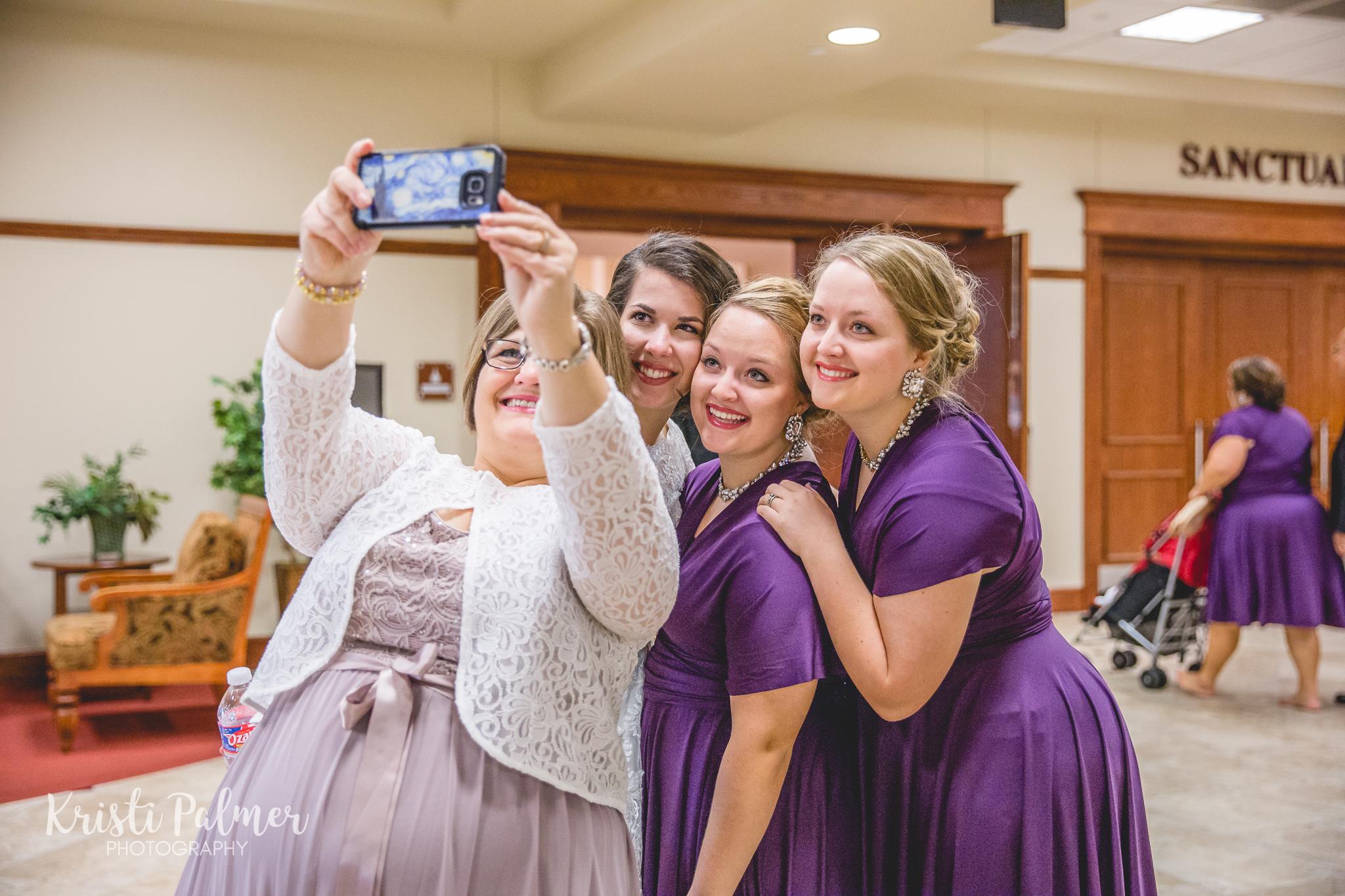 wedding guests selfie