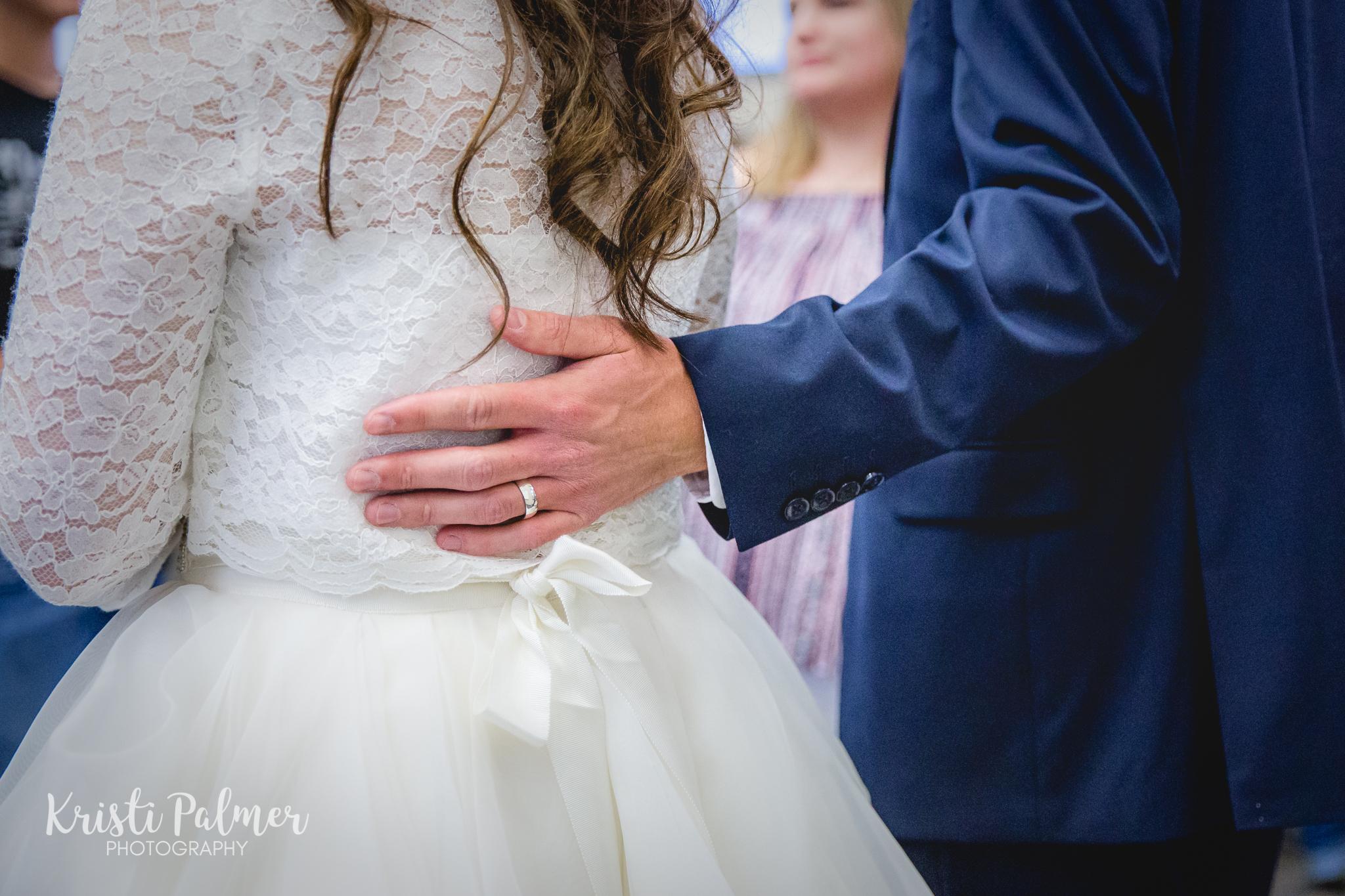 wedding ring bride and groom detail shot