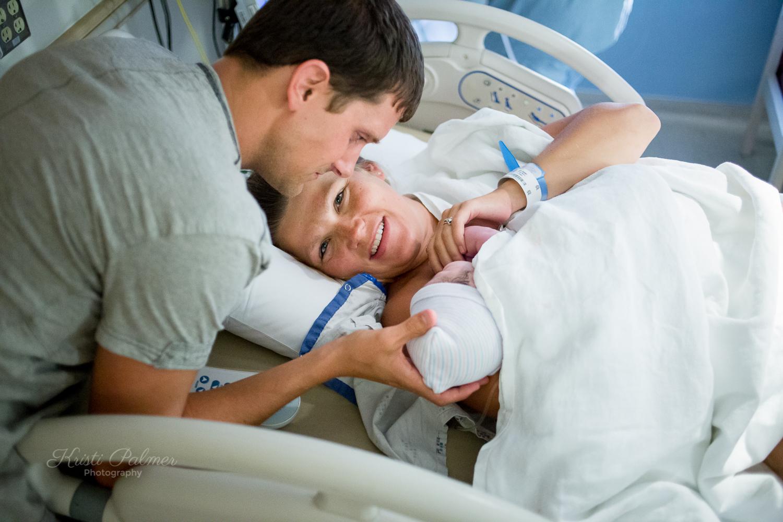 brand new parents new baby birth photos
