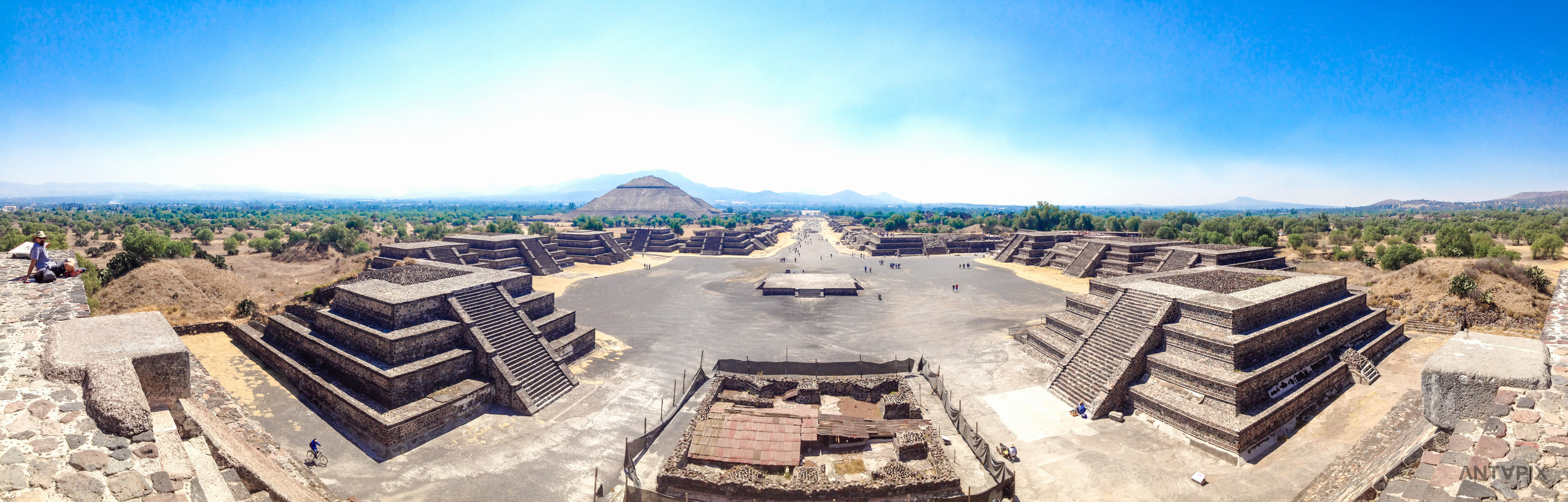 The view from the mid level of the Pyramid of the Moon