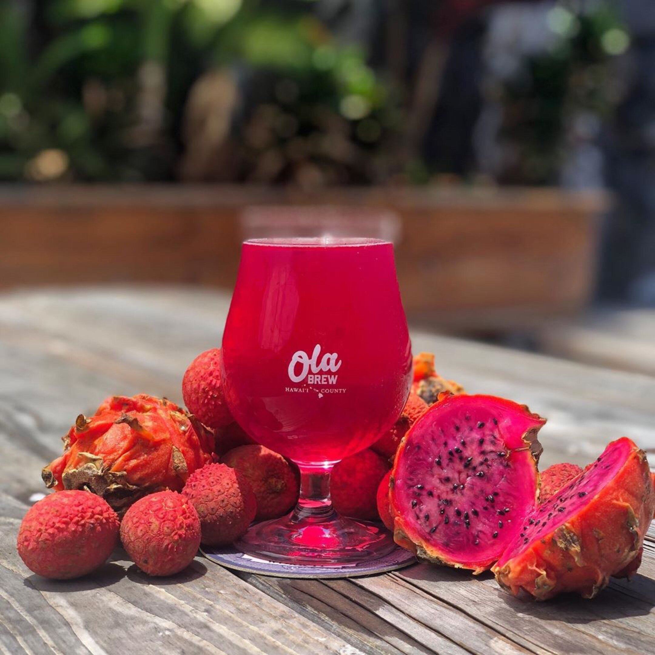 Ola Brew's Dragonfruit and Lychee hard cider. Courtesy photo.