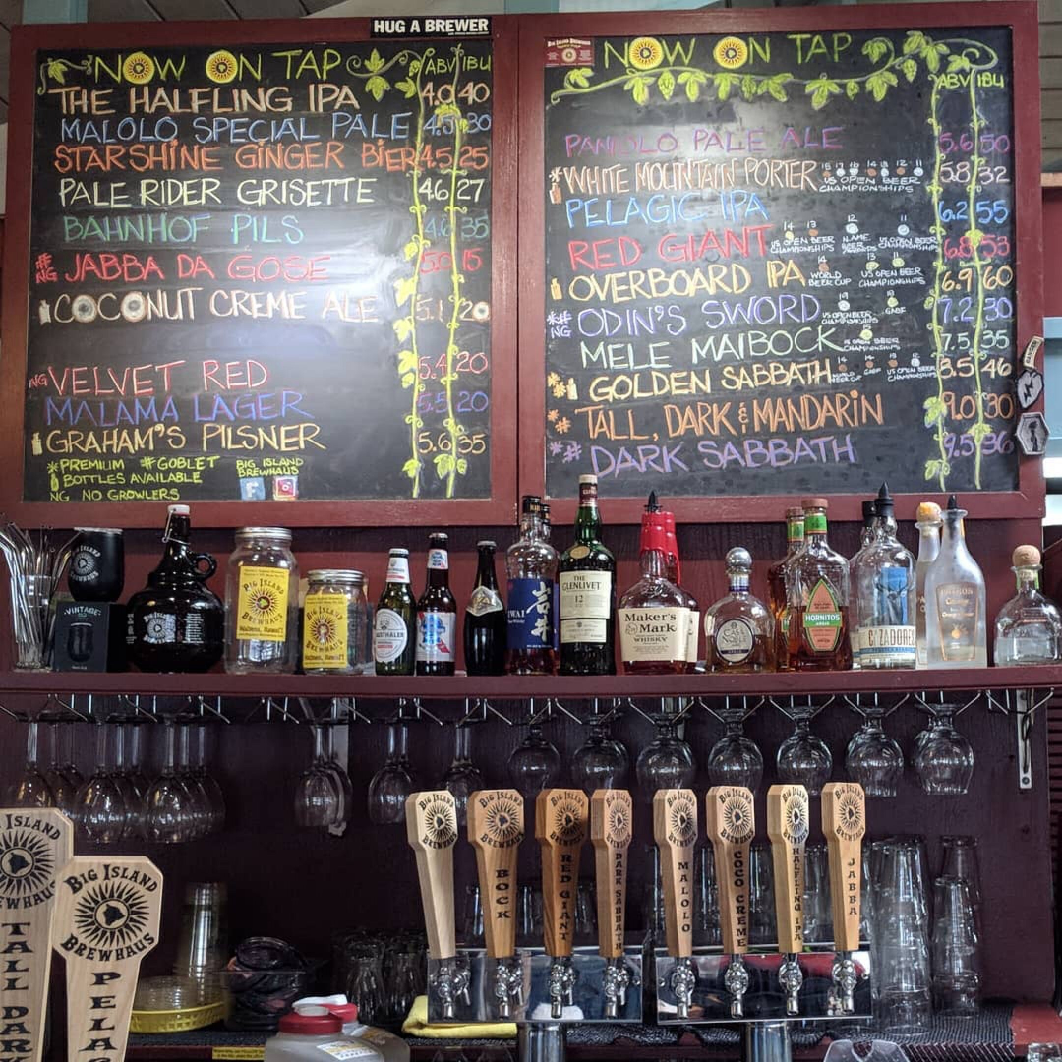 The every changing tap list at Big Island Brewhaus. Courtesy photo.